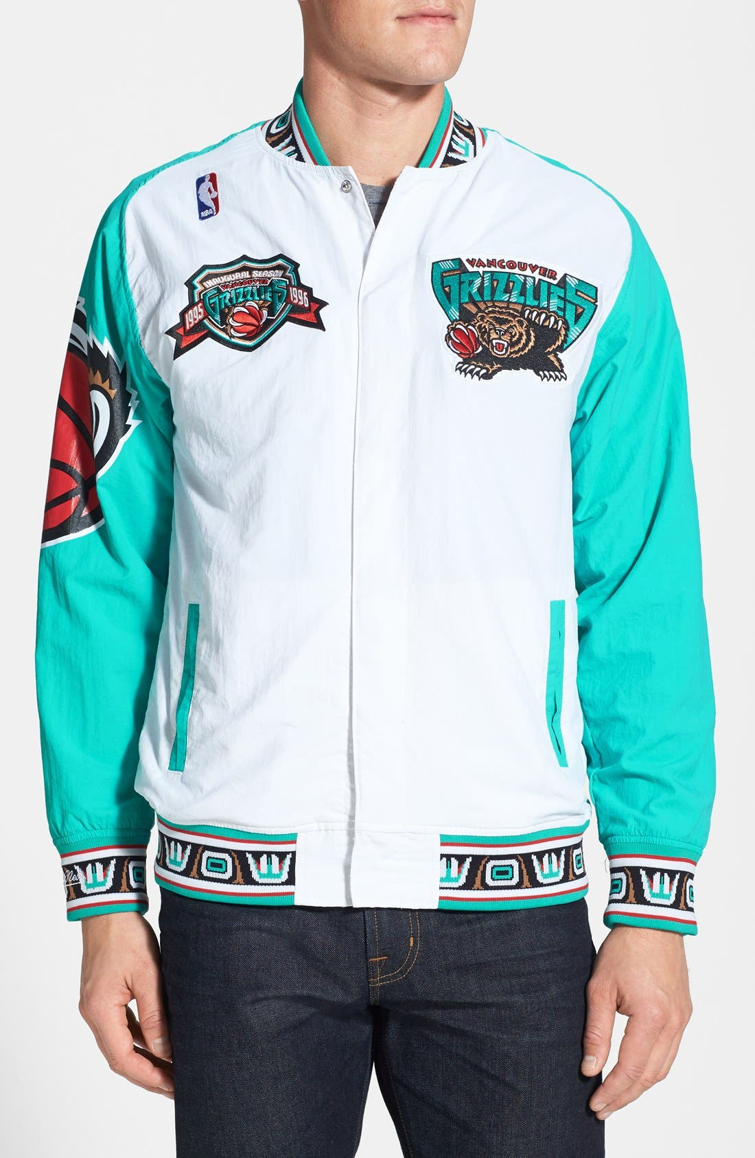 Main Image - Mitchell & Ness 'Vancouver Grizzlies' Tailored Fit Warm-Up Jacket