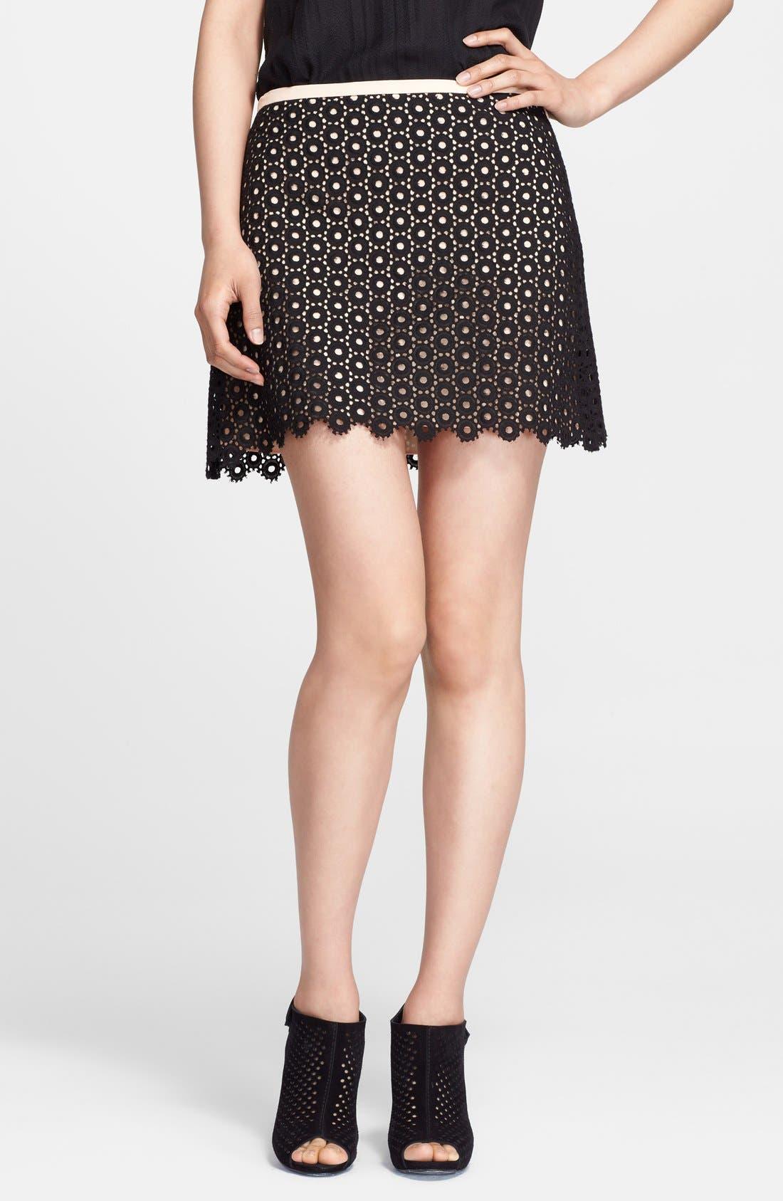 Alternate Image 1 Selected - Mcginn 'Rowan' Cotton Eyelet Skirt
