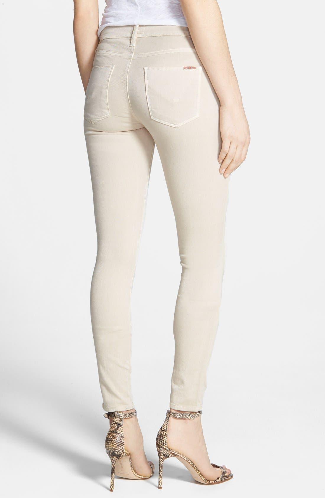 Alternate Image 2  - Hudson Jeans Mid Rise Skinny Jeans (Wood Ash)