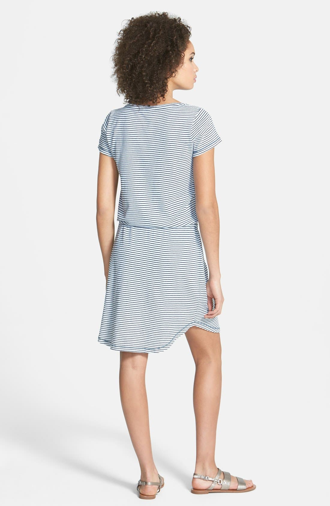 Alternate Image 2  - Splendid Indigo Dye Stripe Knit Blouson Dress