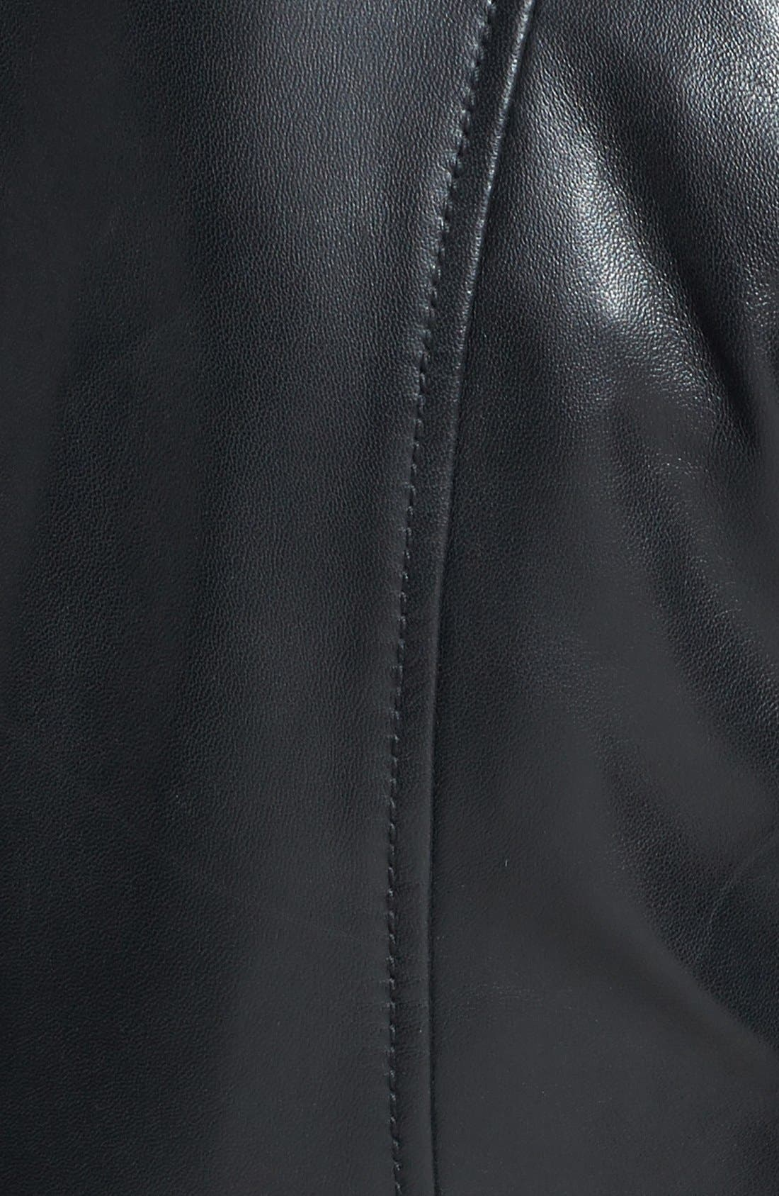 Alternate Image 3  - Halogen® Zip Detail Leather Jacket