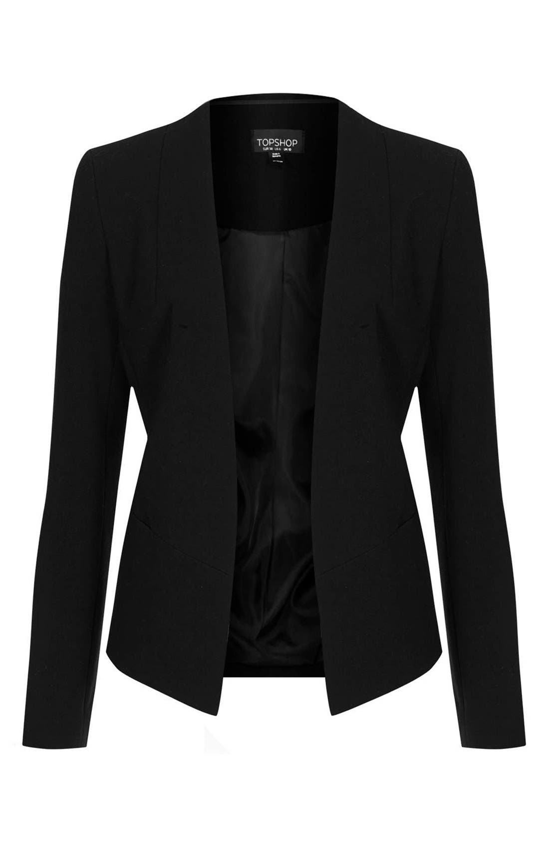 Alternate Image 3  - Topshop Open Front Blazer
