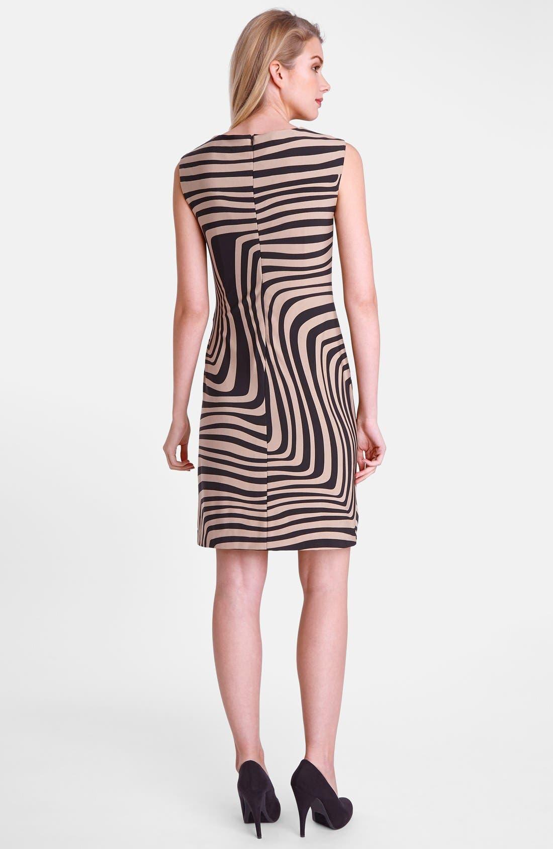 Alternate Image 2  - Tahari 'Wave' Print Cowl Neck Sheath Dress