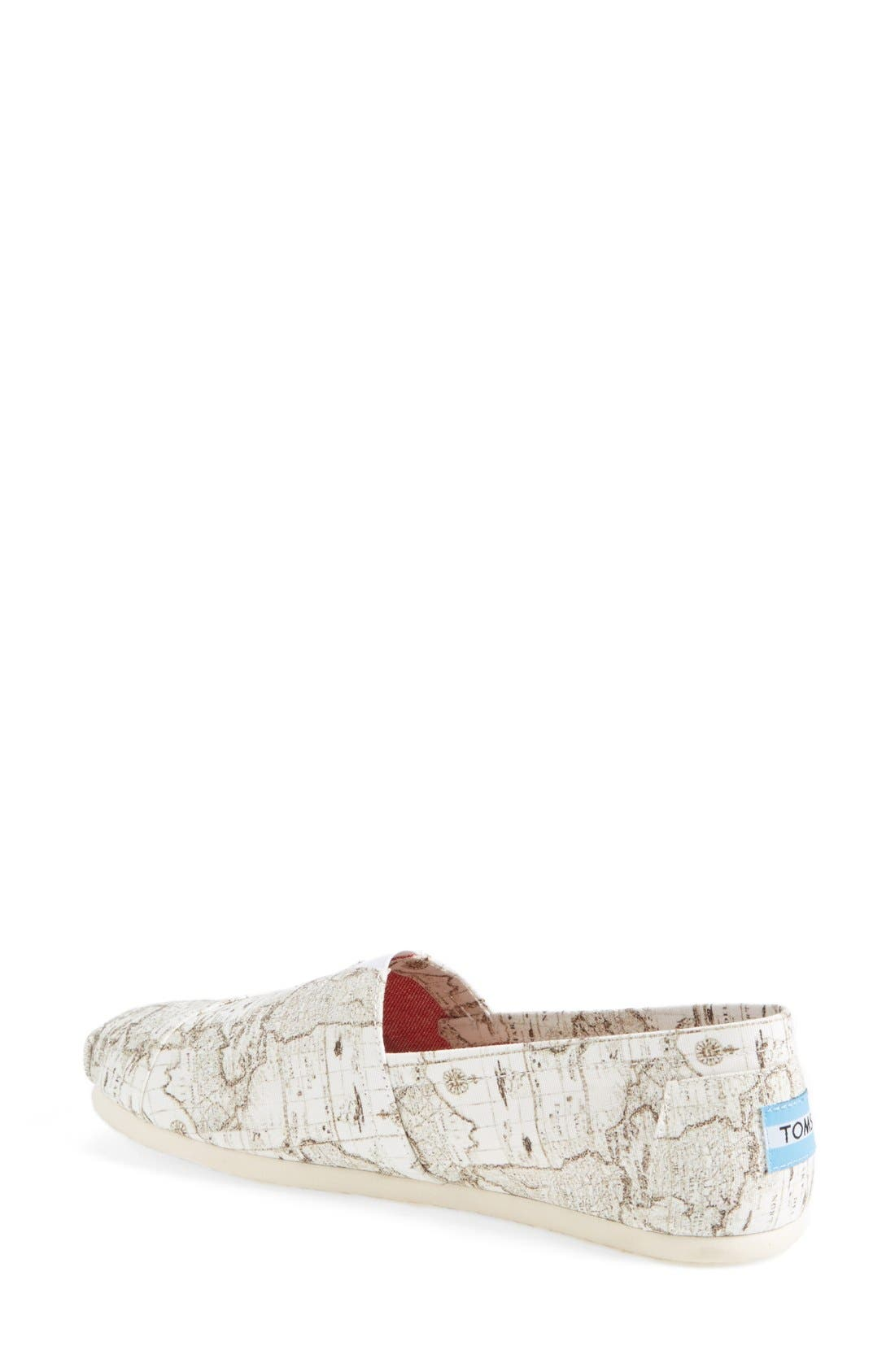 Alternate Image 2  - TOMS 'Classic - Voyage Map' Slip-On (Women)