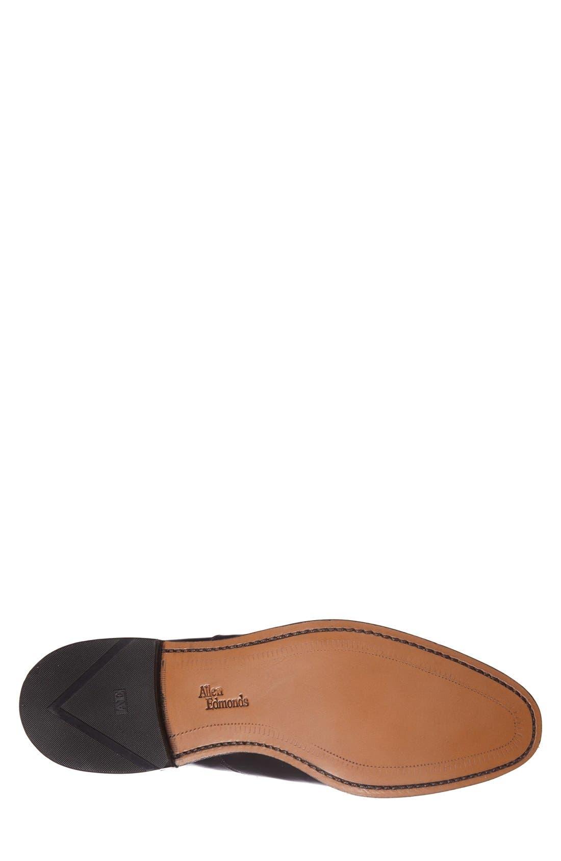 Carlyle Plain Toe Oxford,                             Alternate thumbnail 4, color,                             Black Leather