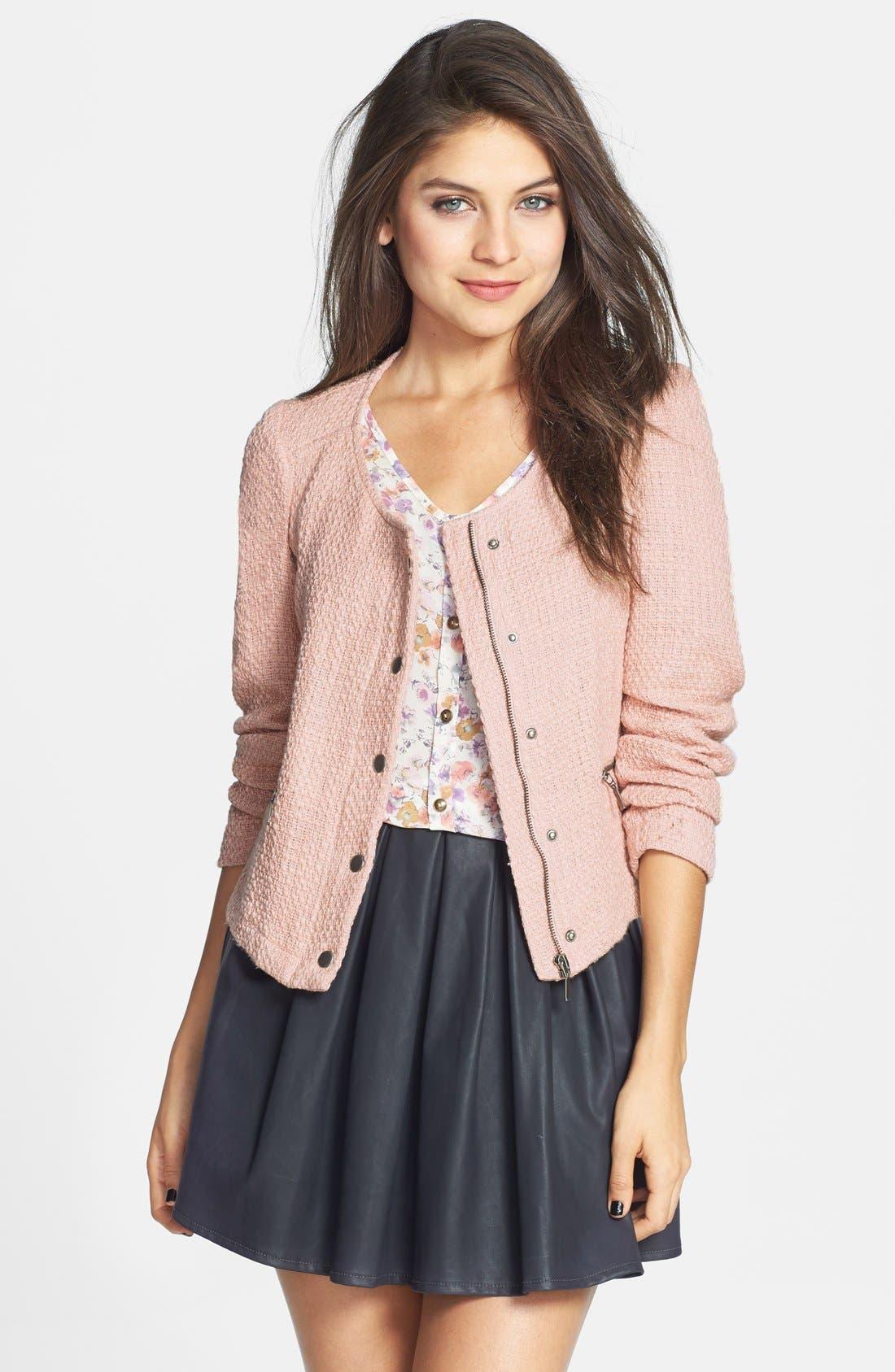 Main Image - Stoosh Tweed Jacket (Juniors)