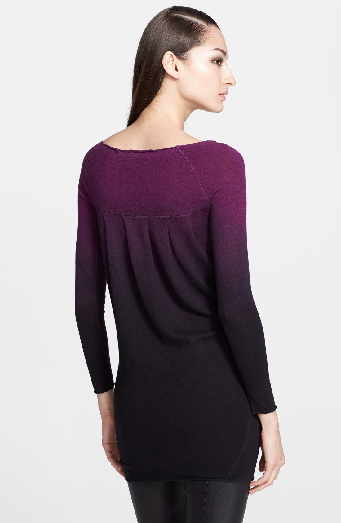 Alternate Image 2  - Donna Karan Collection Ombré Cashmere Sweater