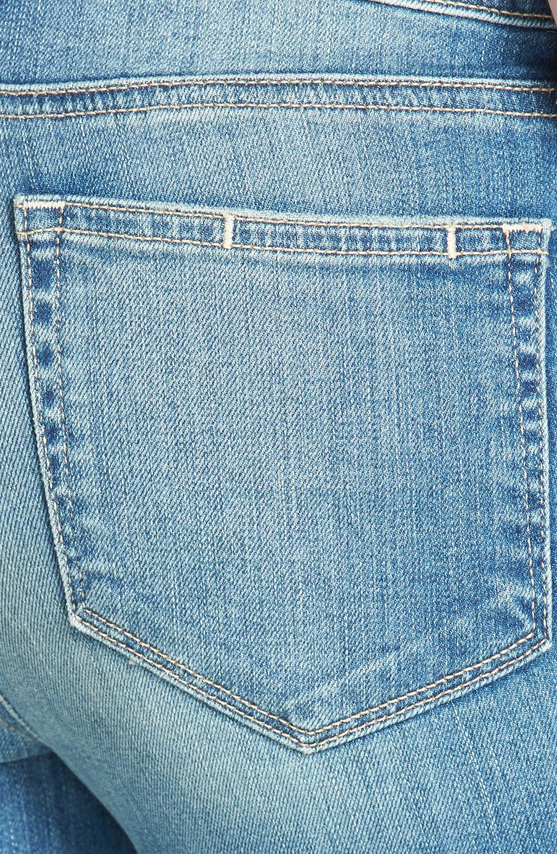 Alternate Image 3  - Paige Denim 'Hoxton' Distressed High Rise Crop Jeans