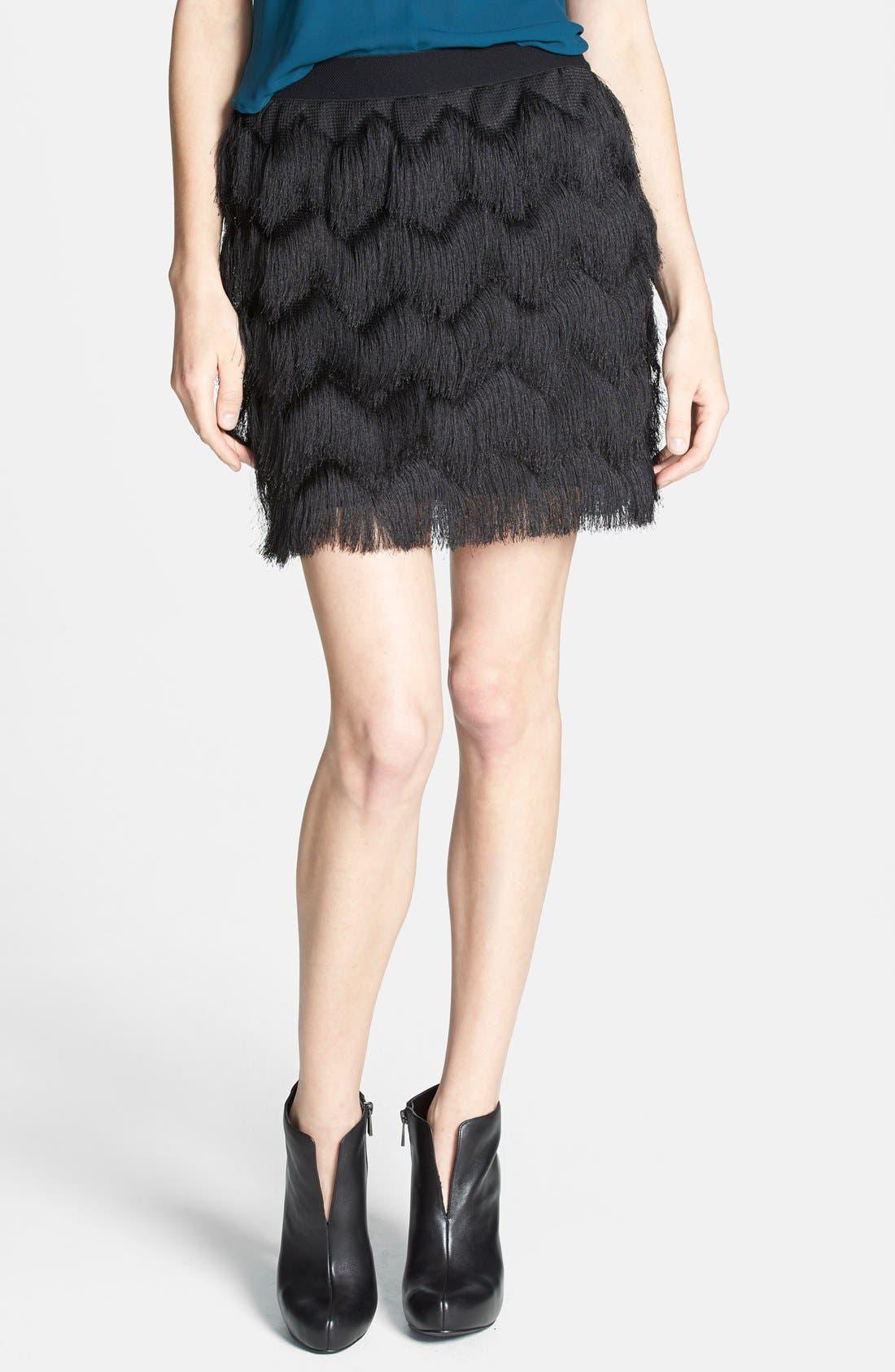 Alternate Image 1 Selected - Leith Fringe Miniskirt