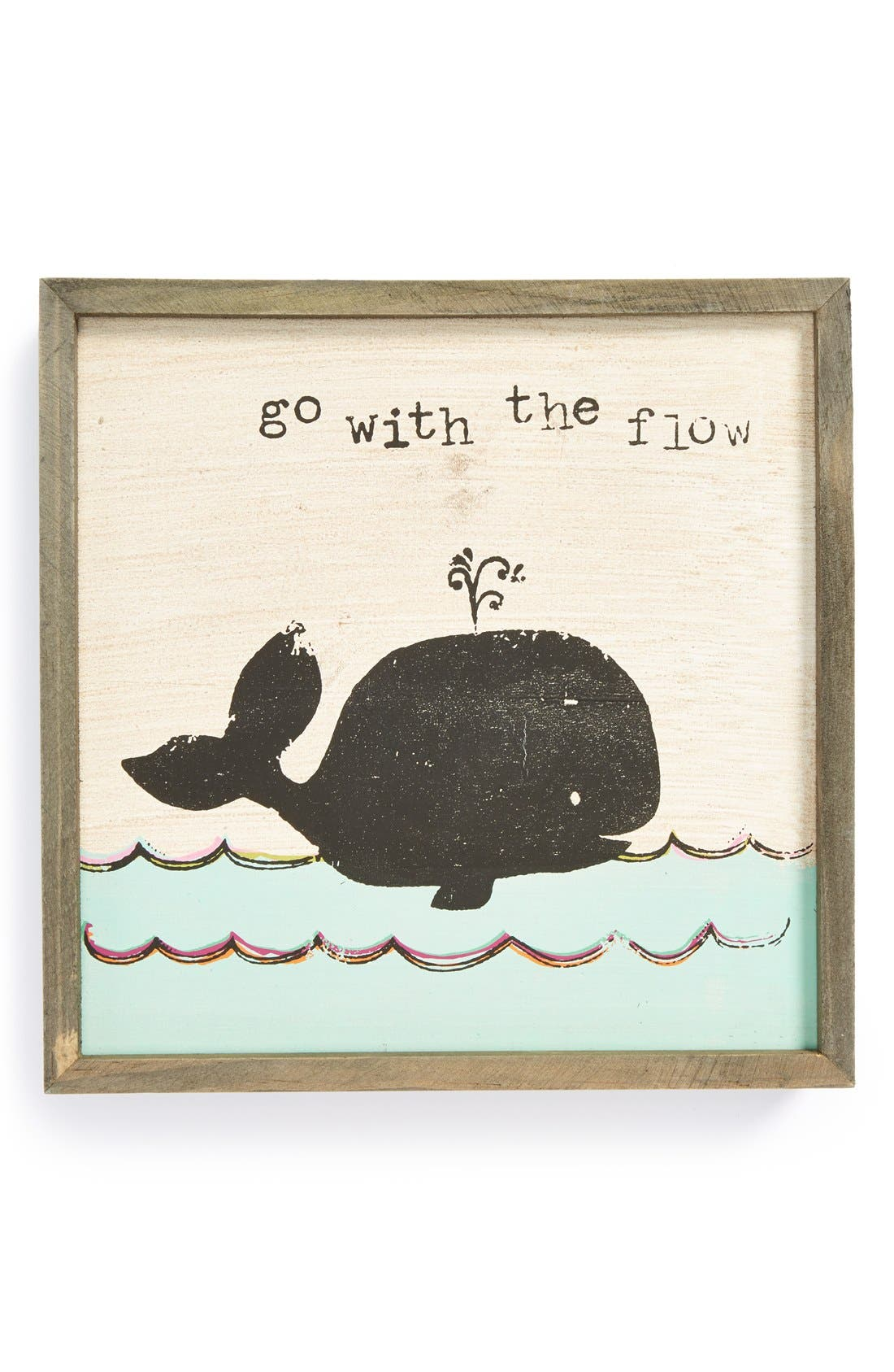 Main Image - Natural Life 'Go with the Flow - Bungalow' Wooden Wall Art