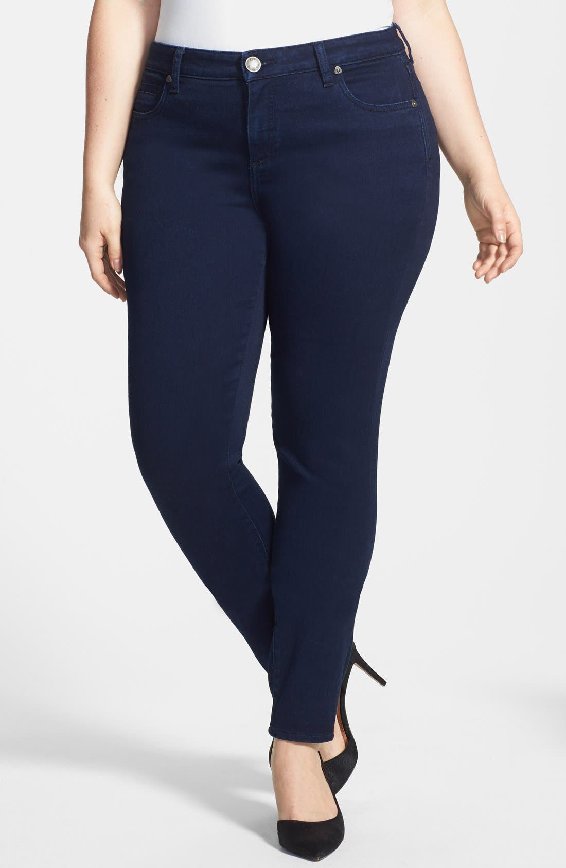 Alternate Image 1 Selected - KUT from the Kloth 'Diana' Stretch Skinny Jeans (Discrete) (Plus Size)