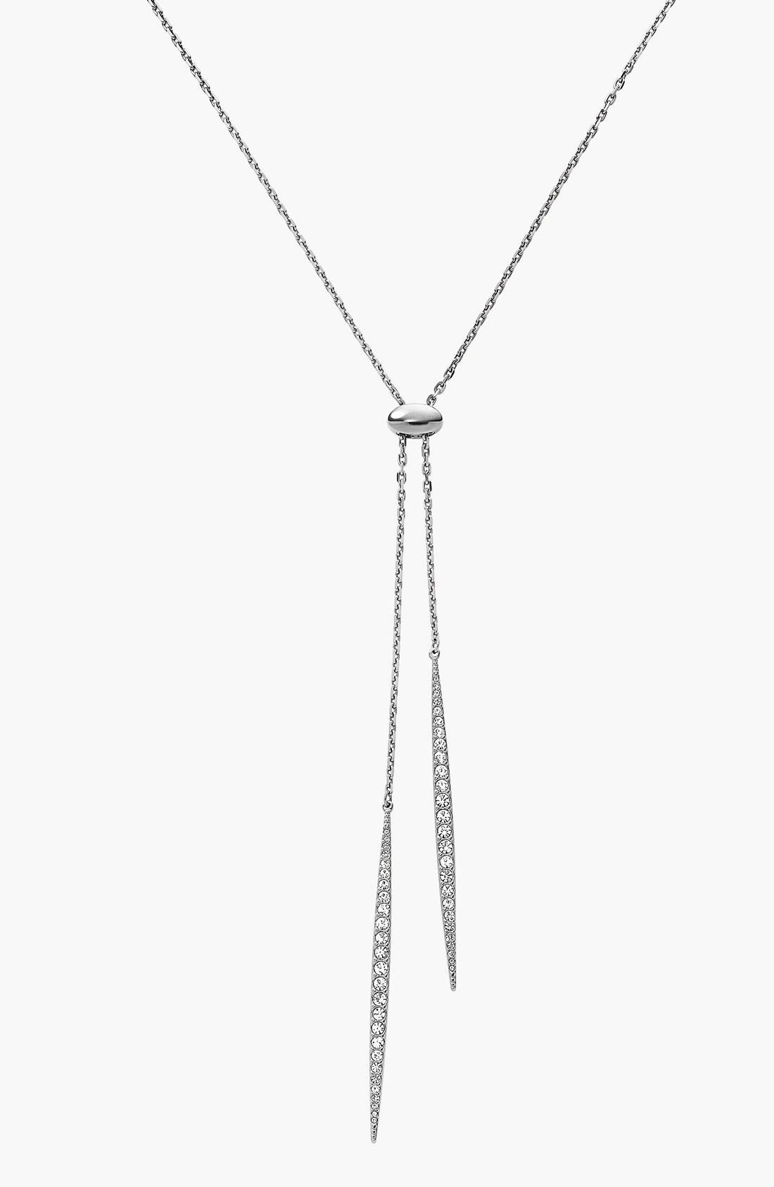 Main Image - Michael Kors 'Matchstick' Pavé Lariat Necklace