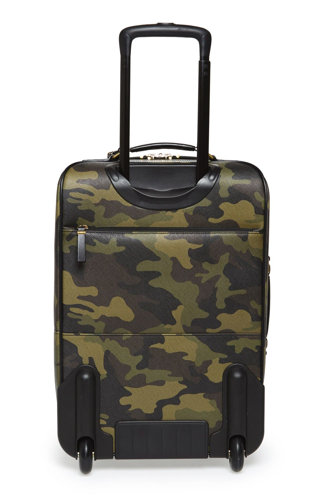 'Jet Set - Camo' Rolling Carry-On,                             Alternate thumbnail 4, color,                             Camo