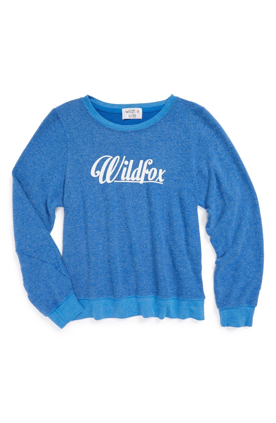 Alternate Image 1 Selected - Wildfox '60's' Lightweight Sweatshirt (Big Girls)