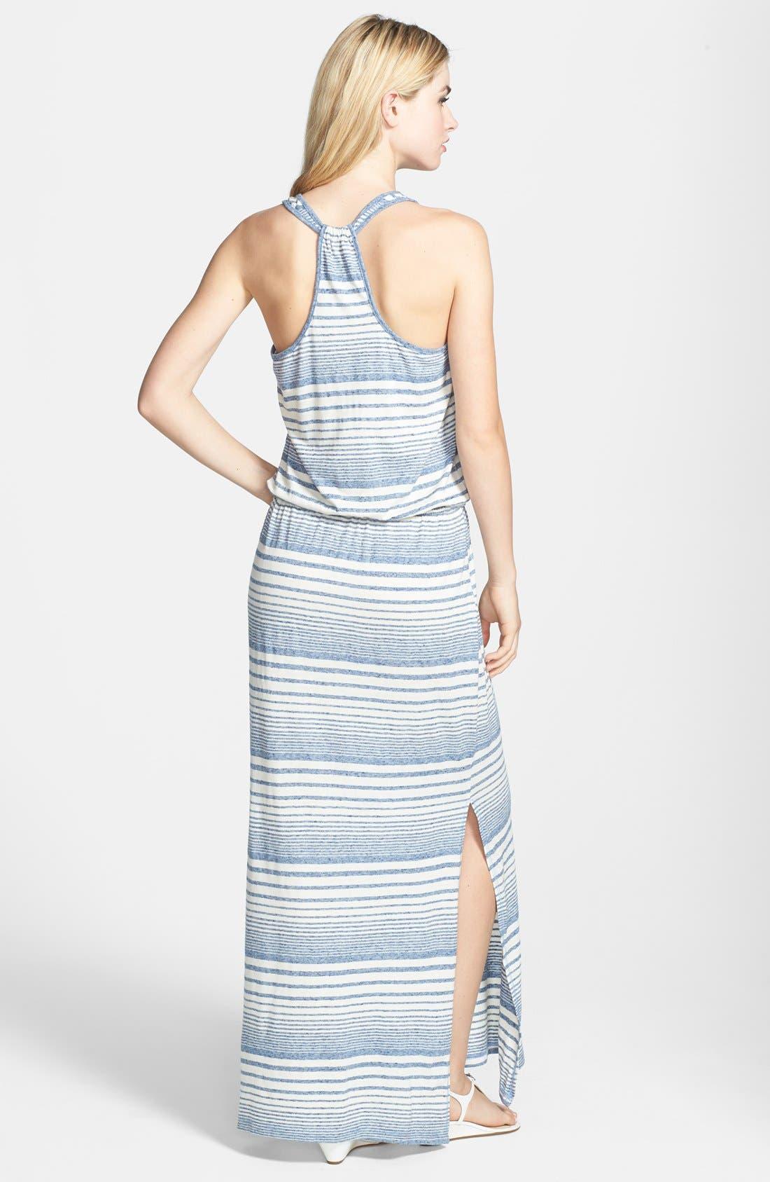 Alternate Image 2  - C & C California Stripe Drawstring Maxi Dress