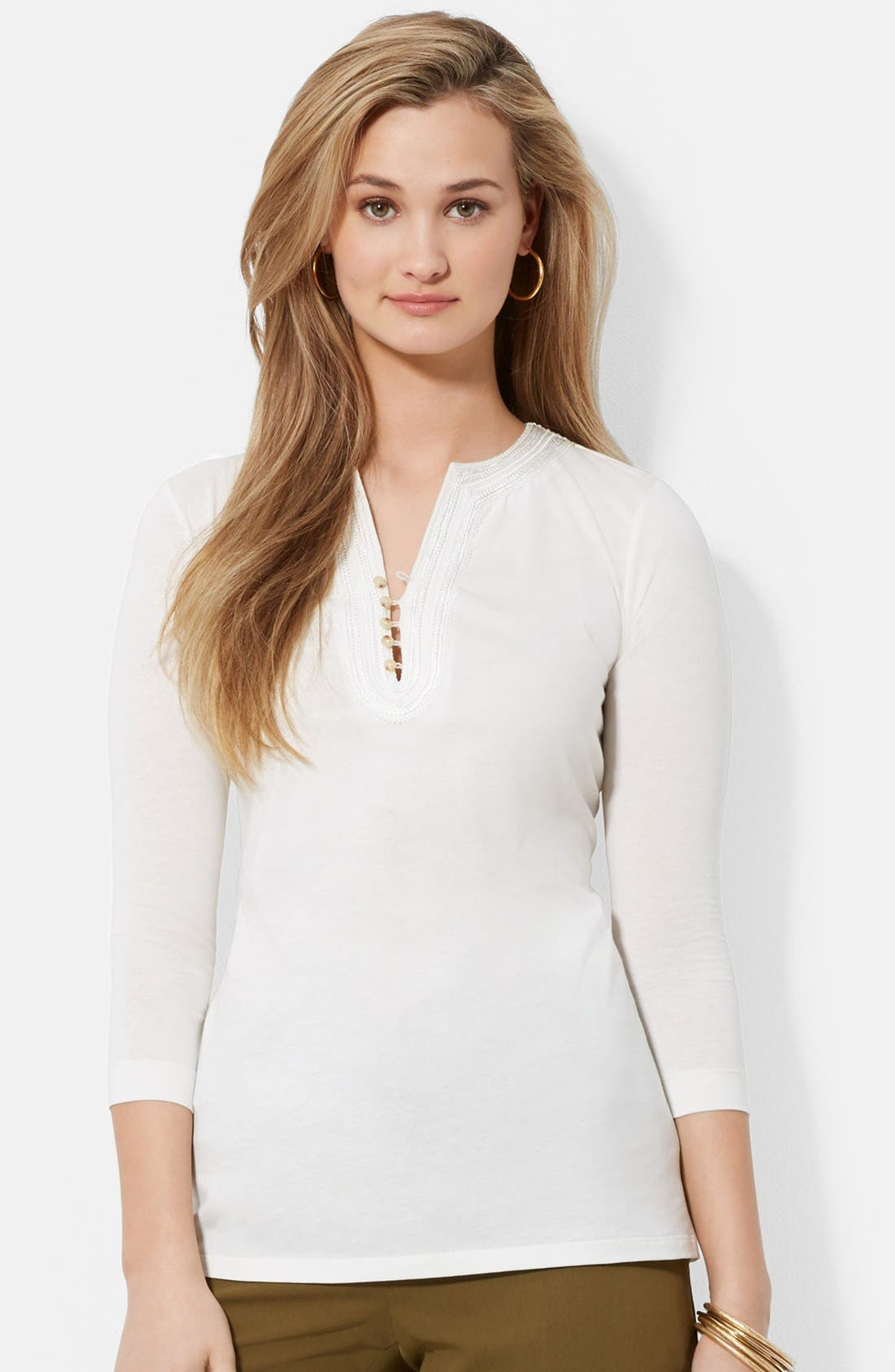 Main Image - Lauren Ralph Lauren Cotton Jersey Tunic
