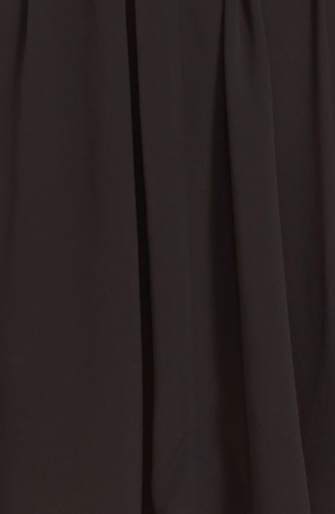 Alternate Image 3  - Nina Ricci Lace Trim Crepe Dress