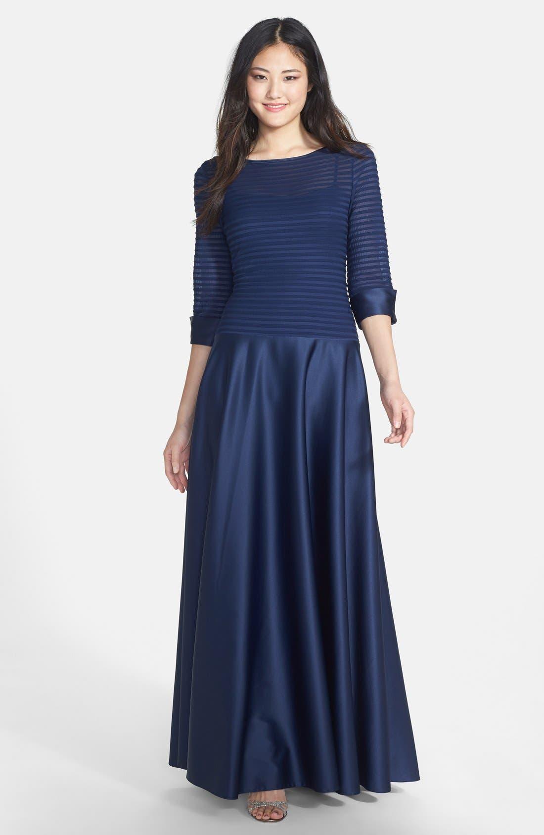 Alternate Image 1 Selected - JS Collections Illusion Bodice Dress (Regular & Petite)