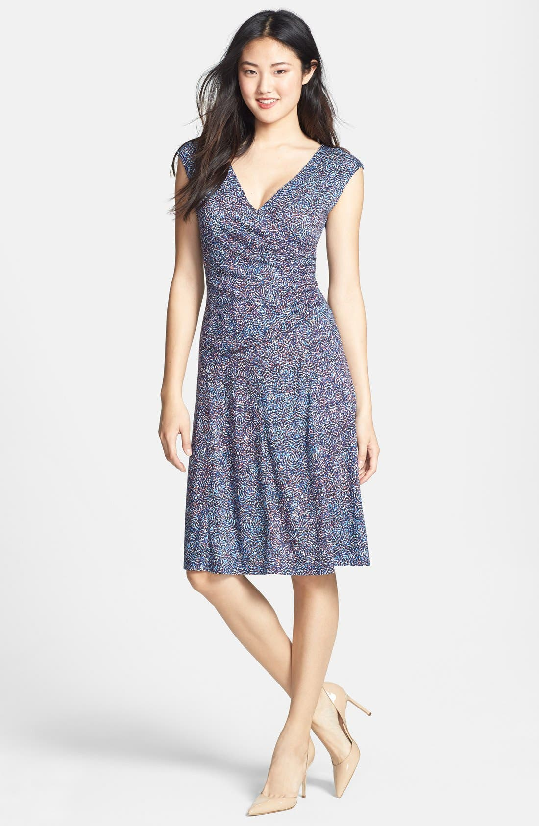 Alternate Image 1 Selected - NIC+ZOE 'Mosaic' Fit & Flare Dress (Regular & Petite)