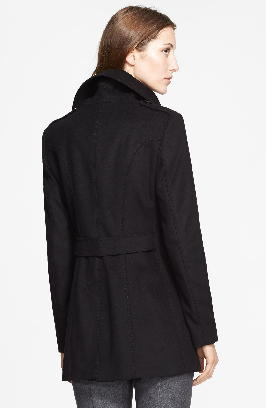 Alternate Image 2  - Burberry London Wool & Cashmere Coat
