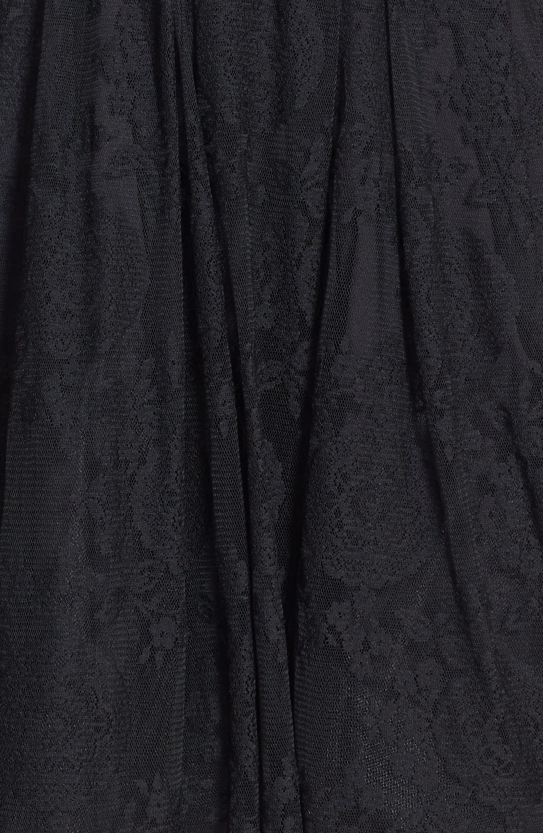 Alternate Image 3  - Betsey Johnson V-Neck Lace Fit & Flare Dress