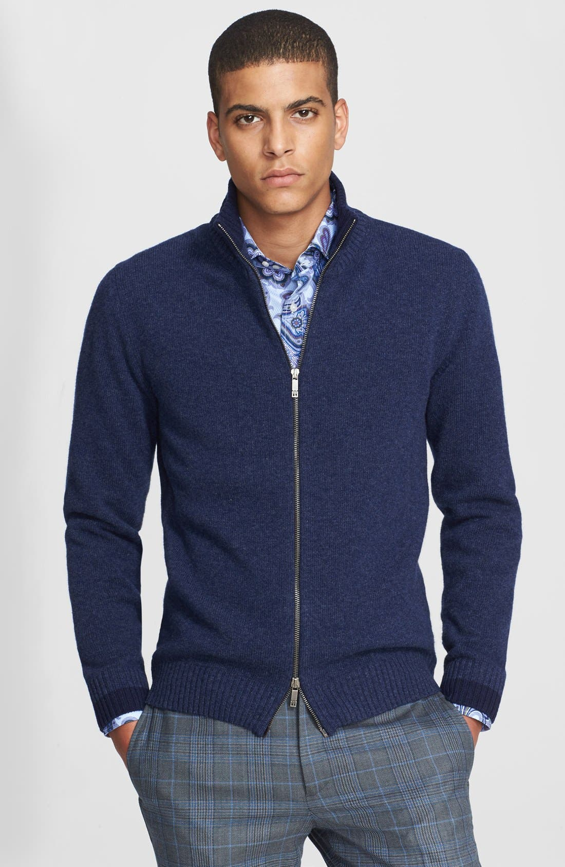 Alternate Image 1 Selected - Etro Wool Zip Sweater