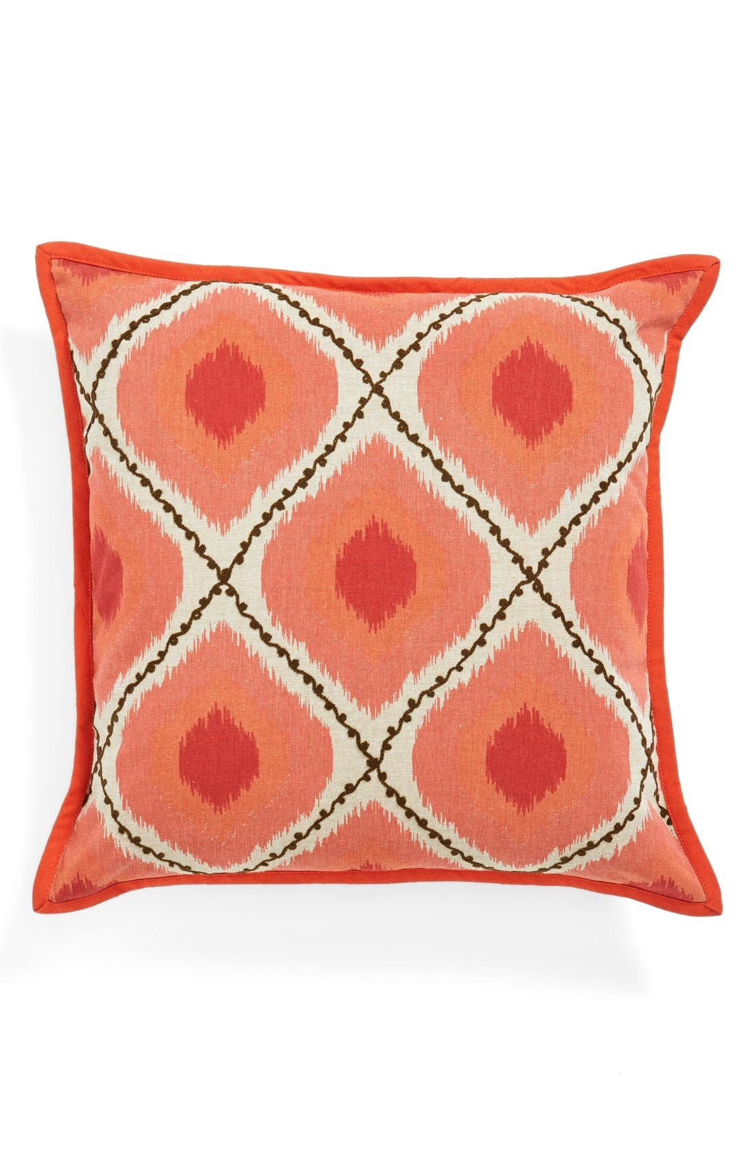Main Image - Loloi Embroidered Ikat Pillow