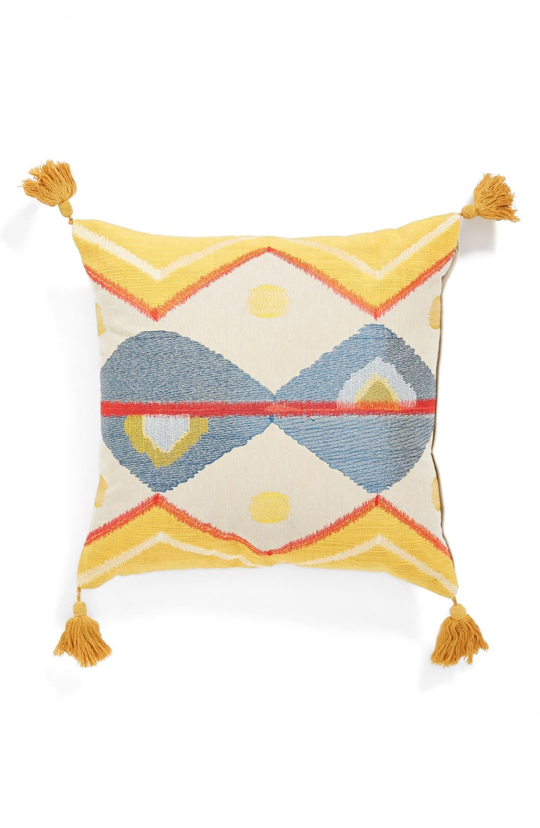 Main Image - Loloi Embroidered Tassel Pillow