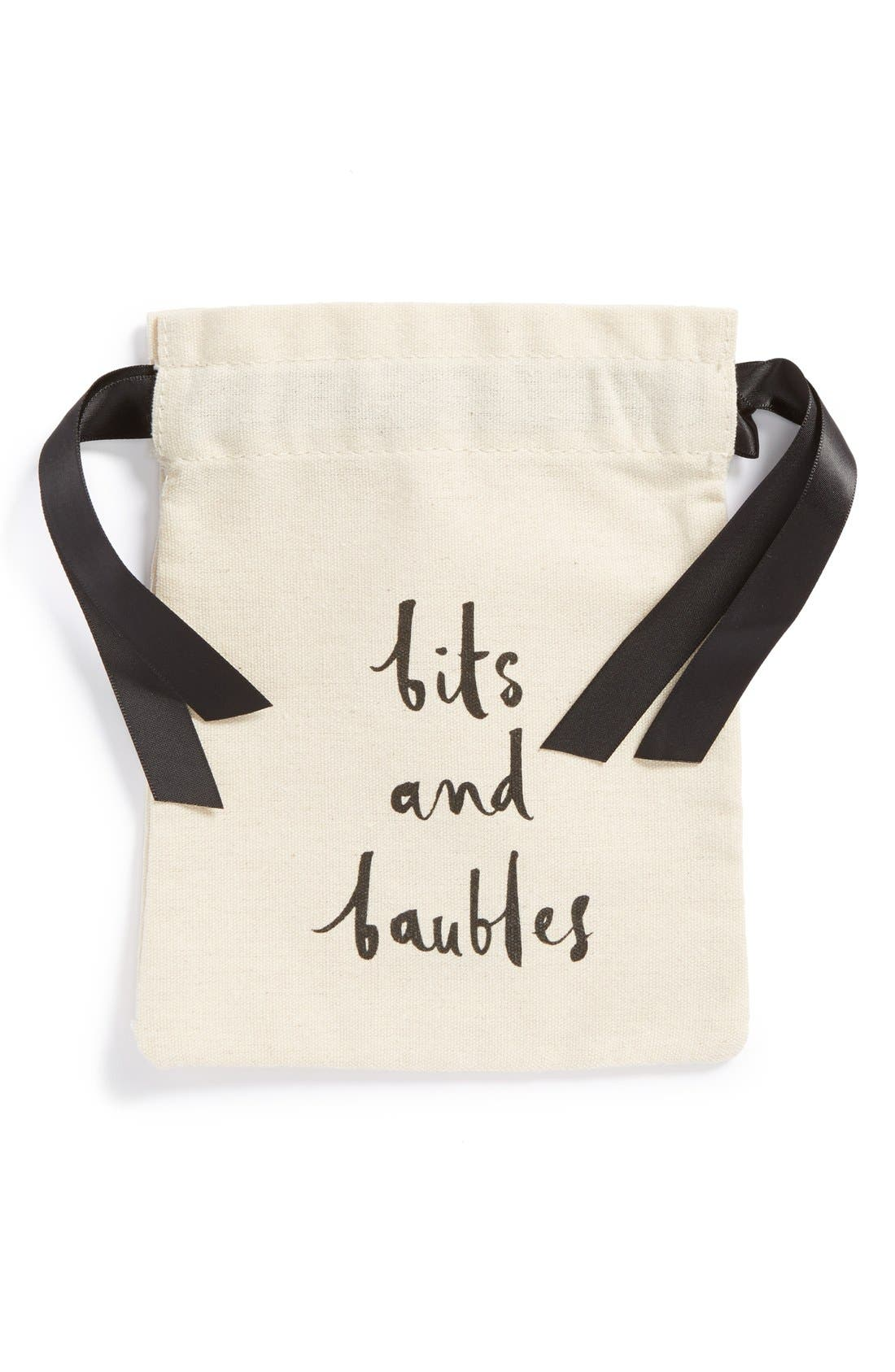 Main Image - kate spade new york 'bits and baubles' jewelry pouch