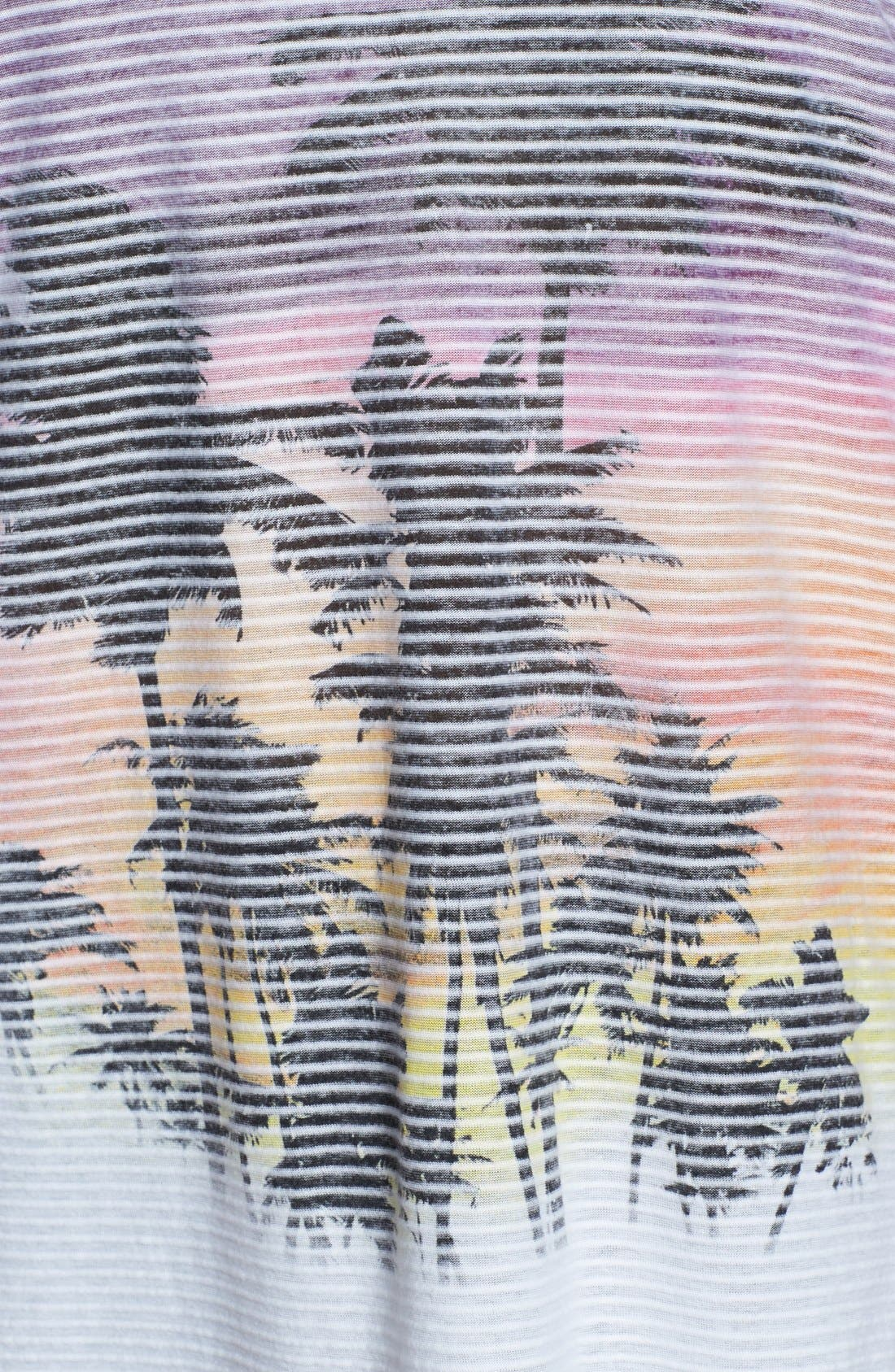Alternate Image 3  - Pink Lotus Double V-Neck Print Tee (Plus Size)