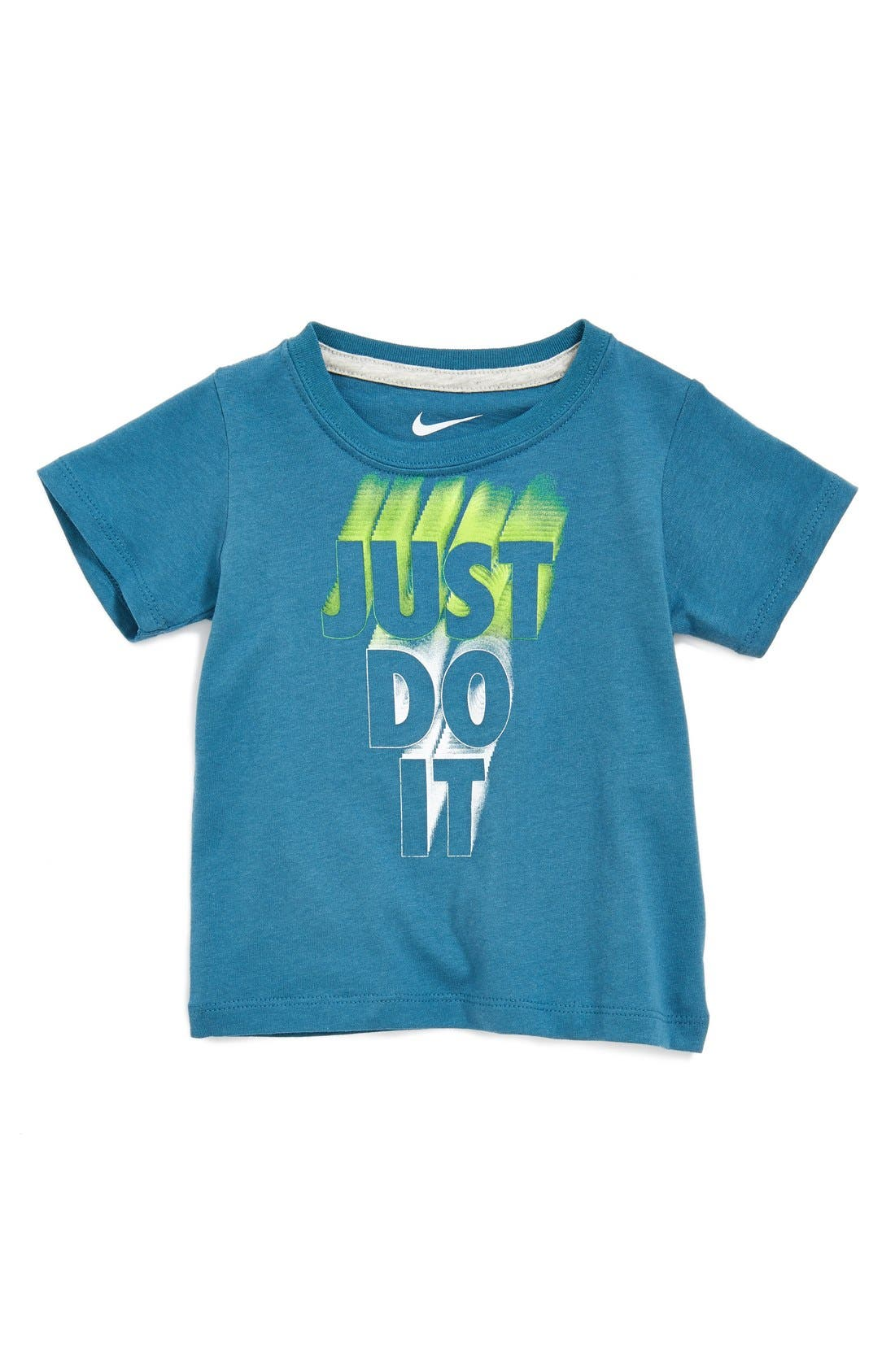 Alternate Image 1 Selected - Nike 'Just Do It' T-Shirt (Baby Boys) (Online Only)