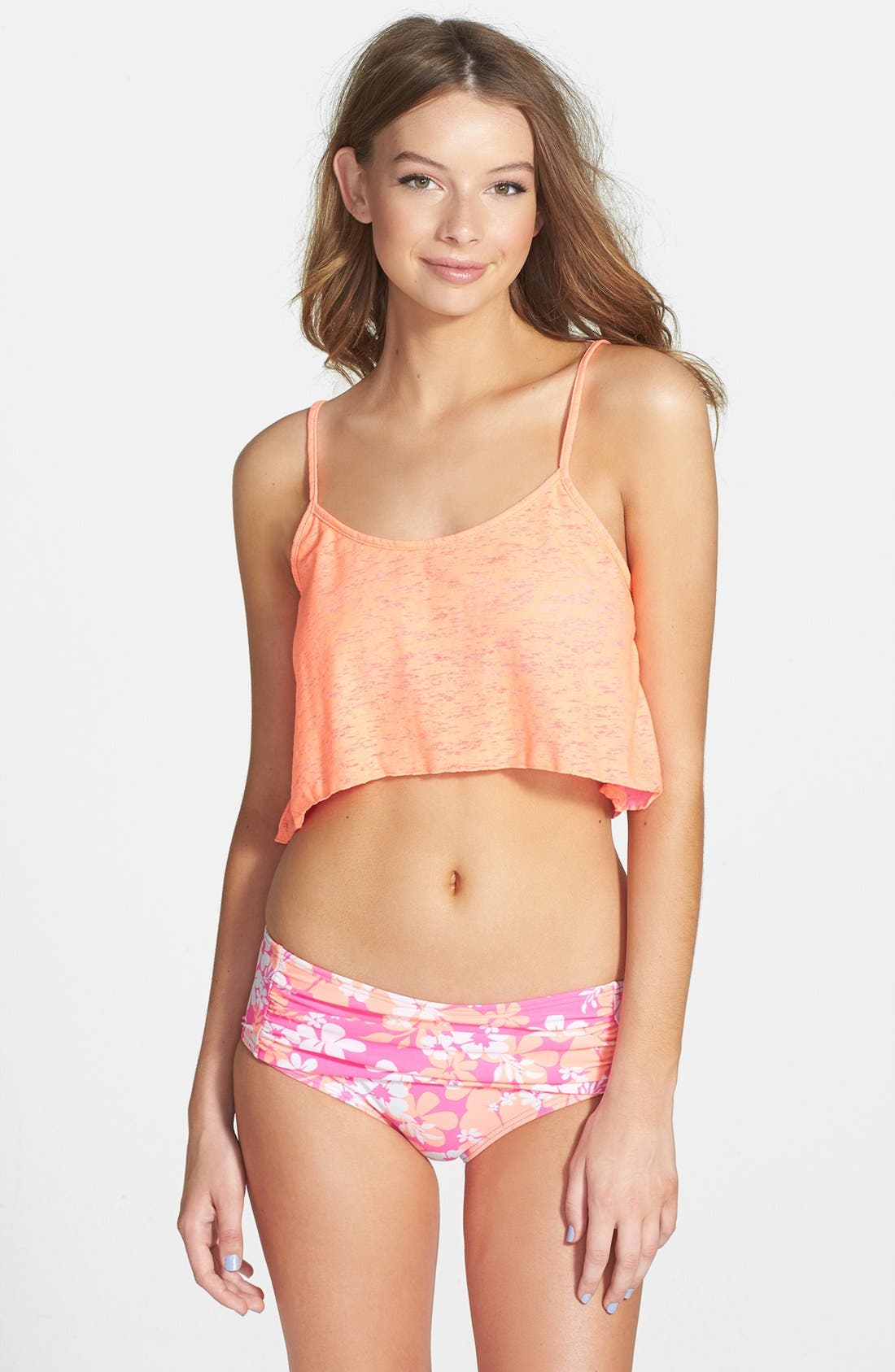 Alternate Image 1 Selected - Smoothies by Gossip Reversible Crop Top (Juniors)