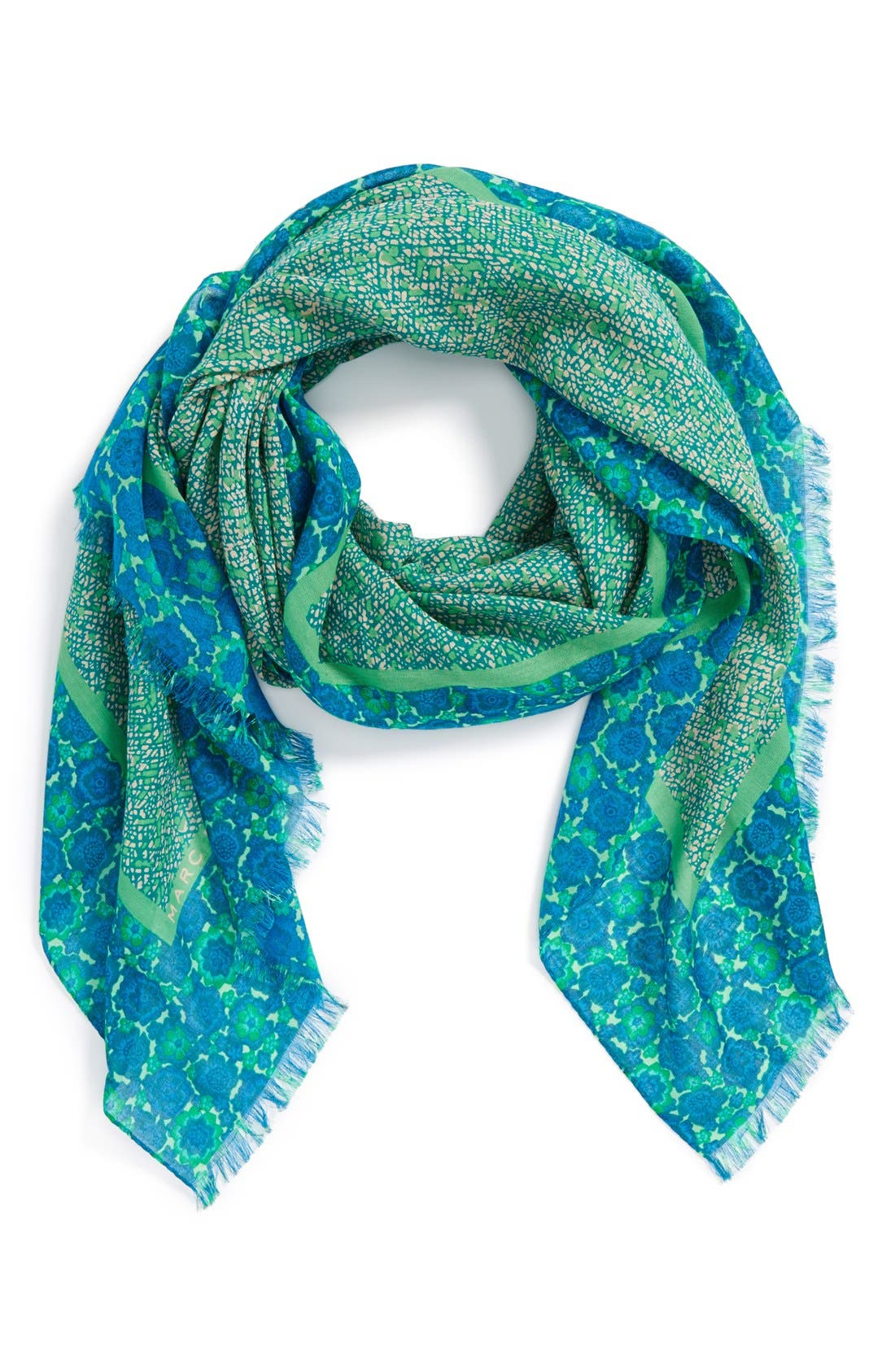 Main Image - MARC BY MARC JACOBS 'Karoo & Floral' Cotton Print Scarf