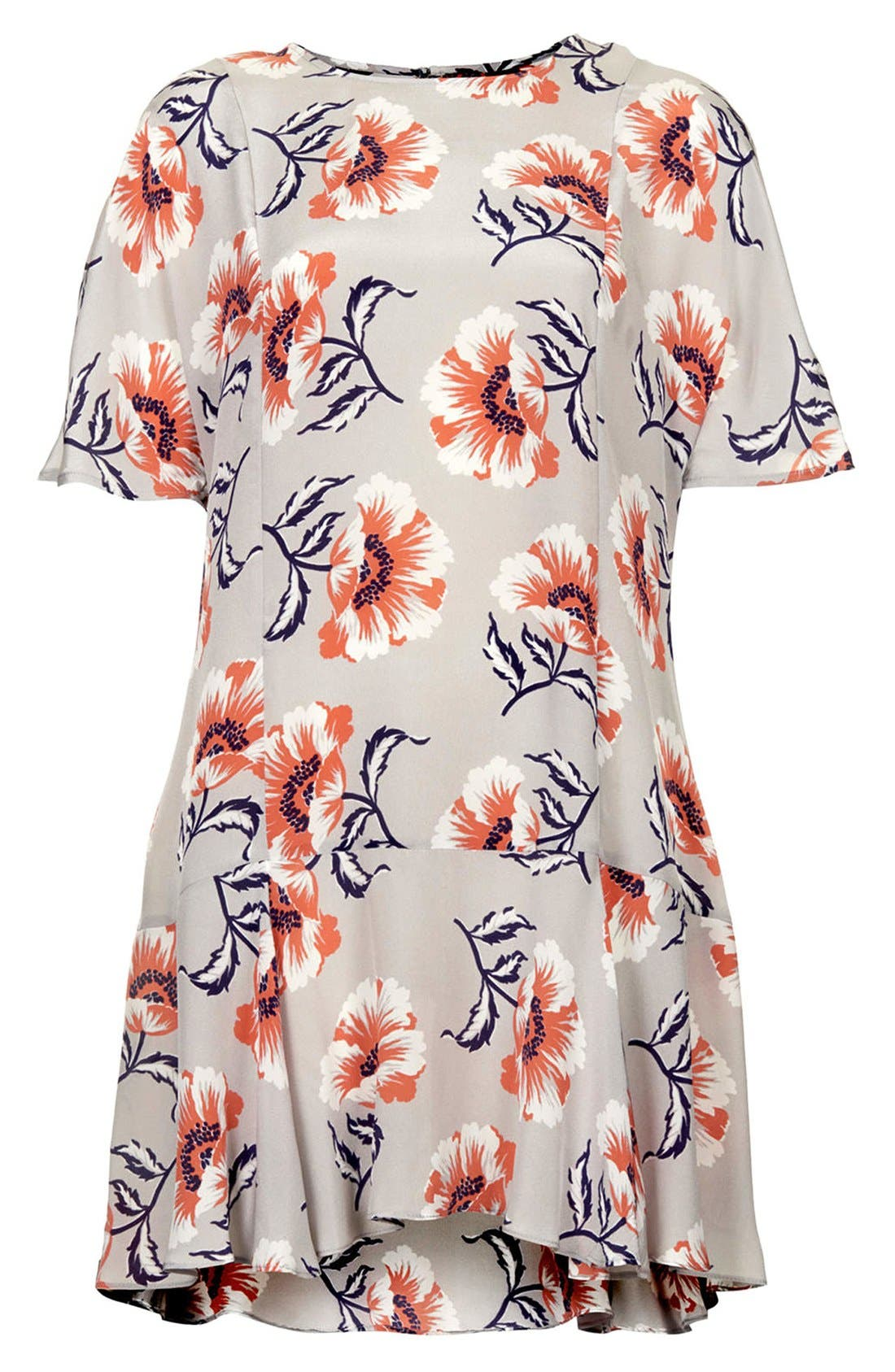 Alternate Image 3  - Topshop Boutique Floral Print Silk Shift Dress