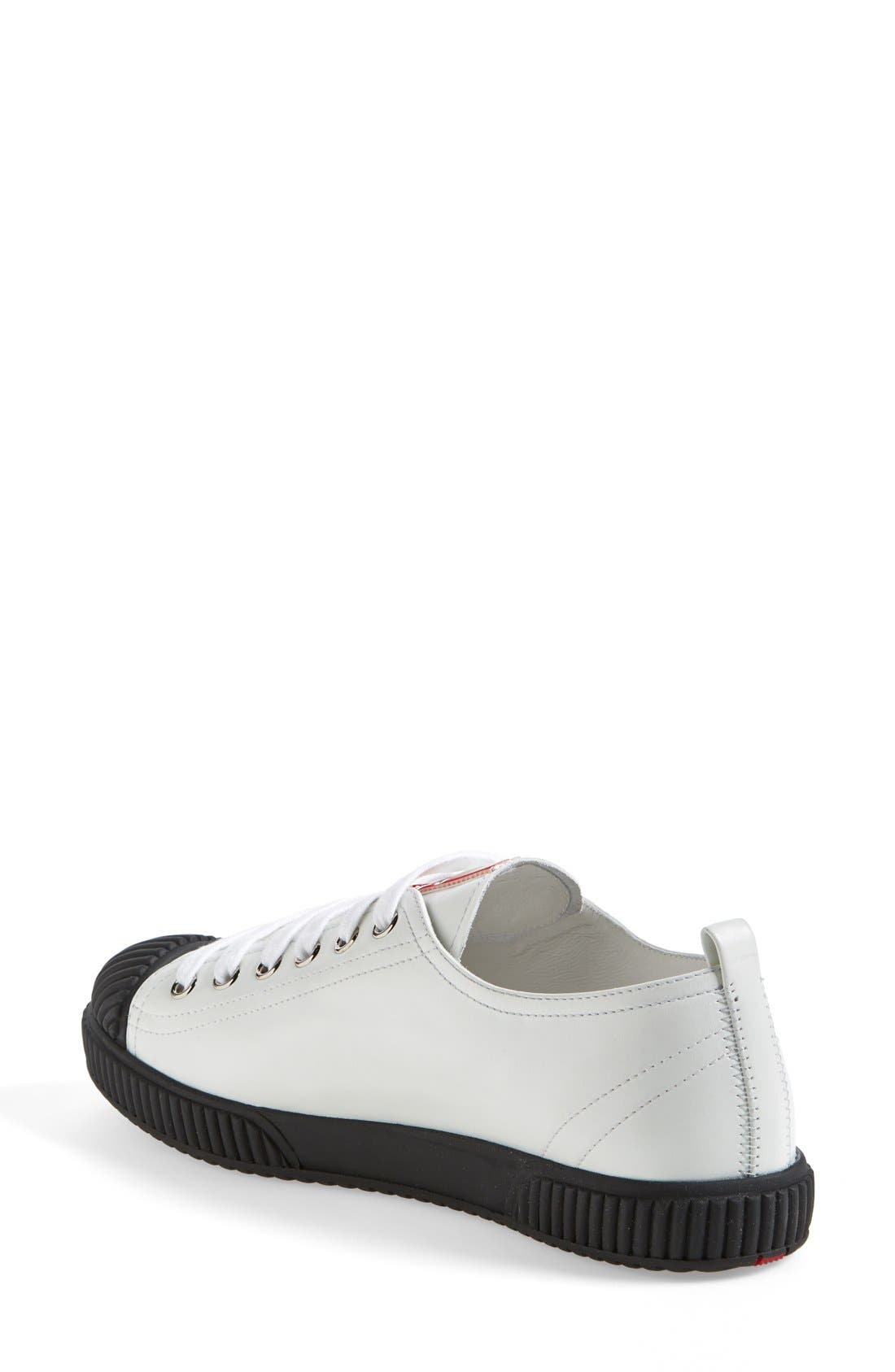 Alternate Image 2  - Prada Cap Toe Sneaker (Women)