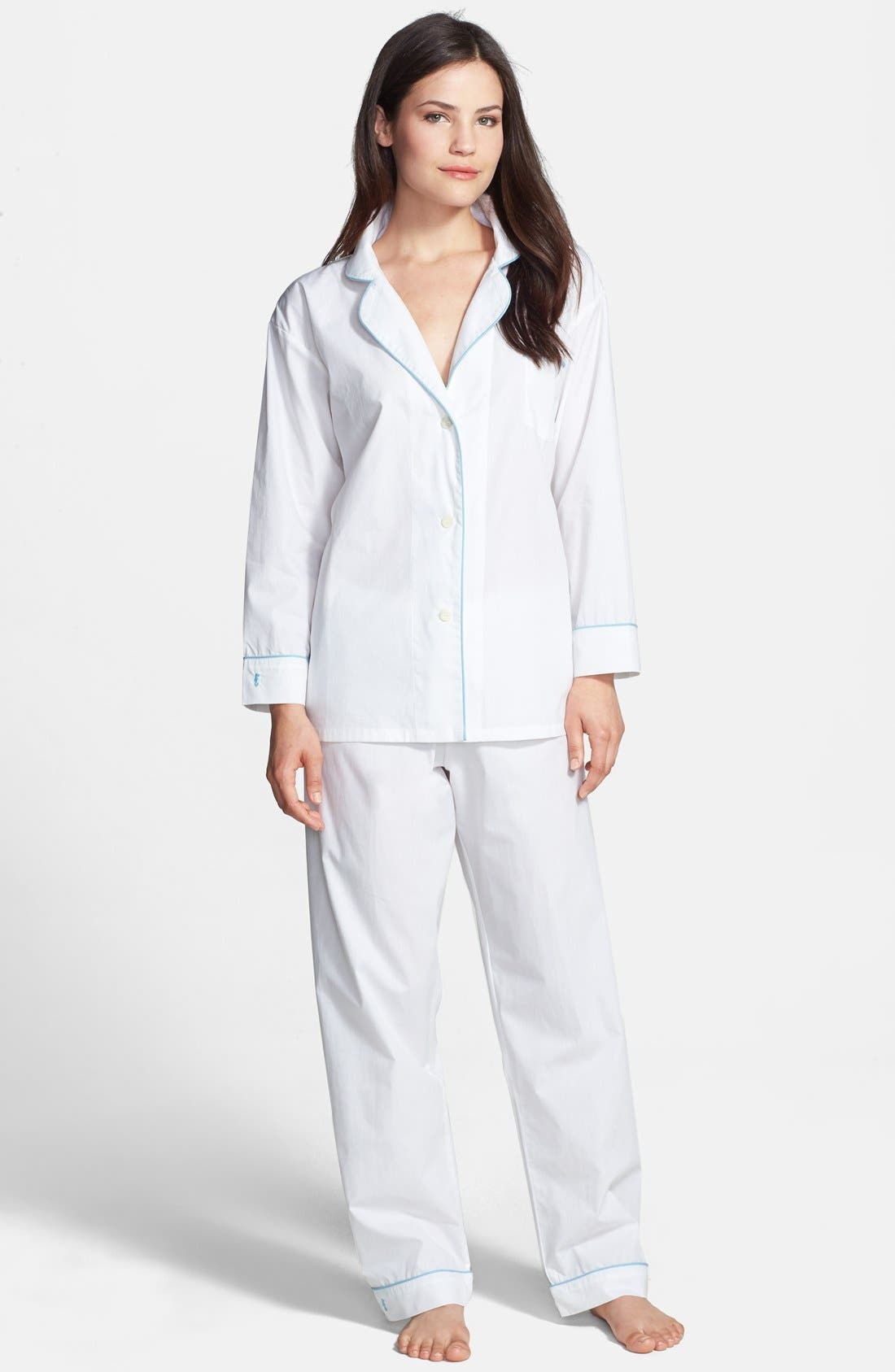 Alternate Image 1 Selected - Marigot 'Classic' Cotton Poplin Pajamas