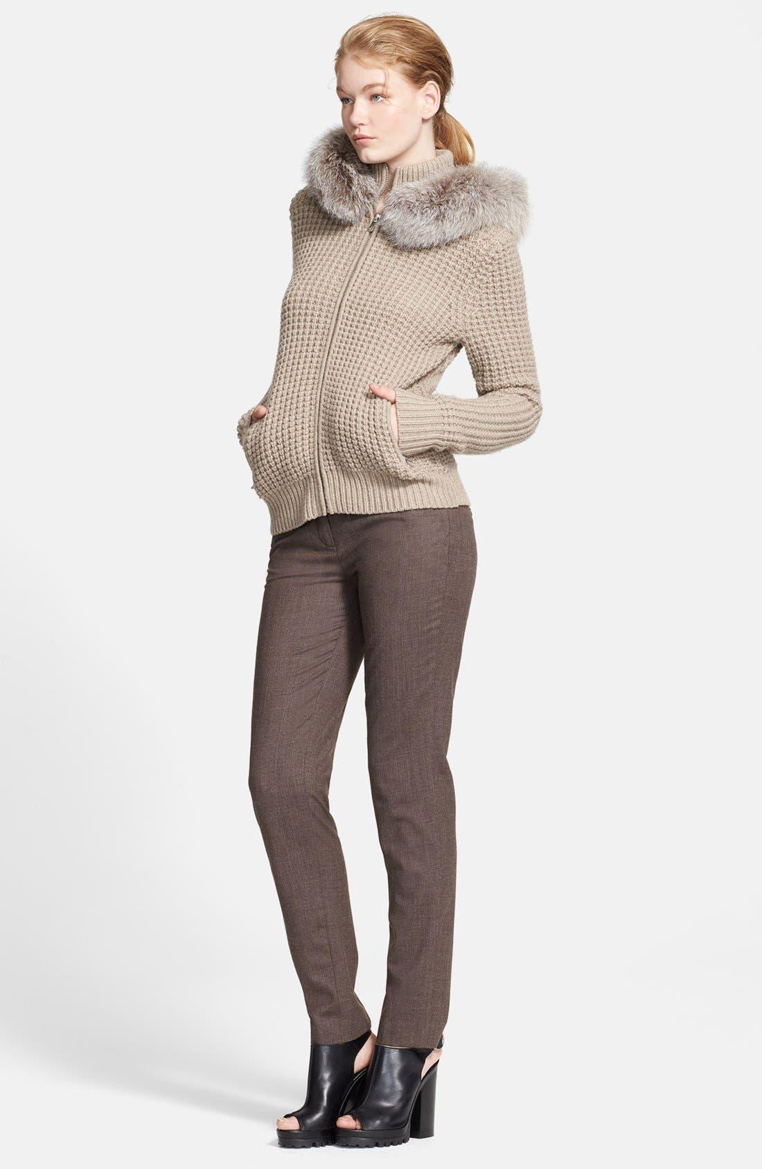 Alternate Image 4  - Michael Kors Zip Front Cashmere Hoodie with Genuine Fox Fur Trim