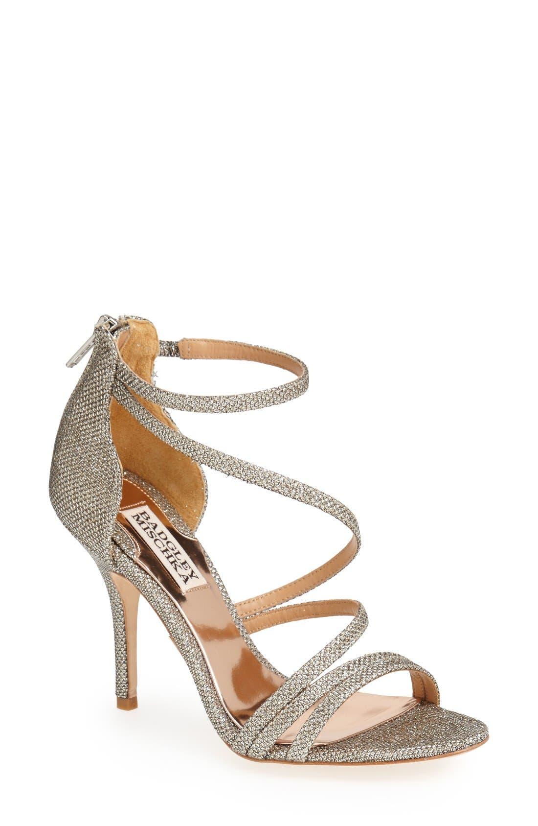 Alternate Image 1 Selected - Badgley Mischka 'Landmark' Ankle Strap Sandal (Women)