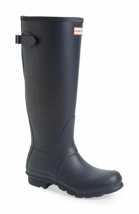 0be90392e5f0 Hunter Original Tall Adjustable Back Waterproof Rain Boot (Women)