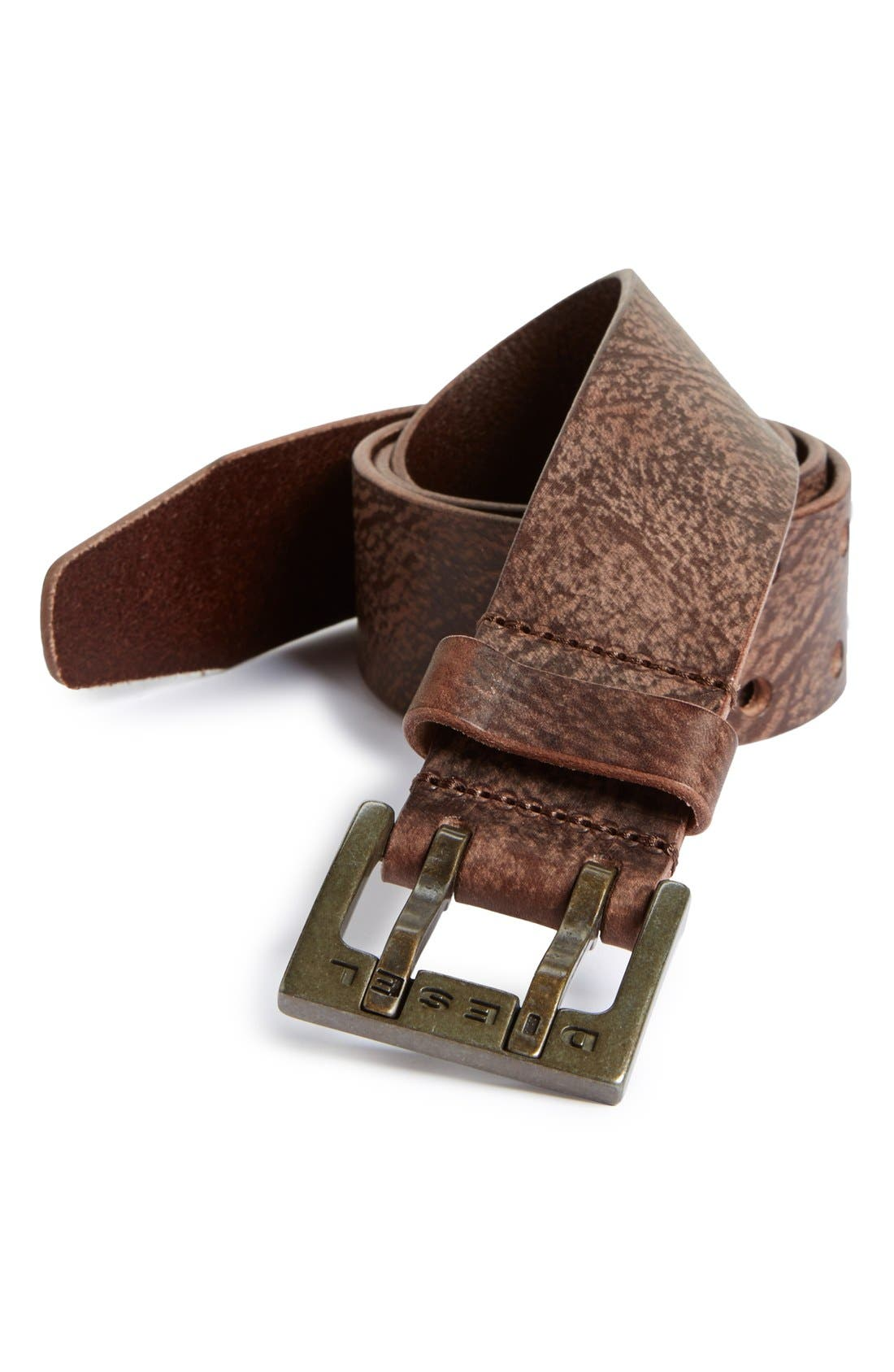 Alternate Image 1 Selected - DIESEL® 'Bitwo' Leather Belt