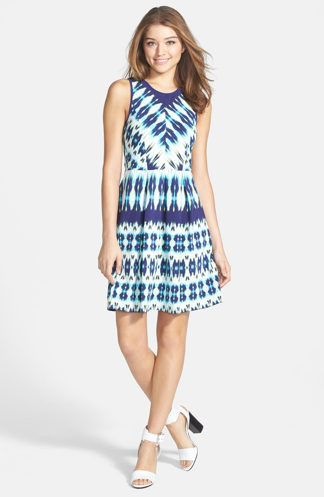 Alternate Image 3  - Felicity & Coco Stripe Stretch Cotton Fit & Flare Dress (Nordstrom Exclusive)