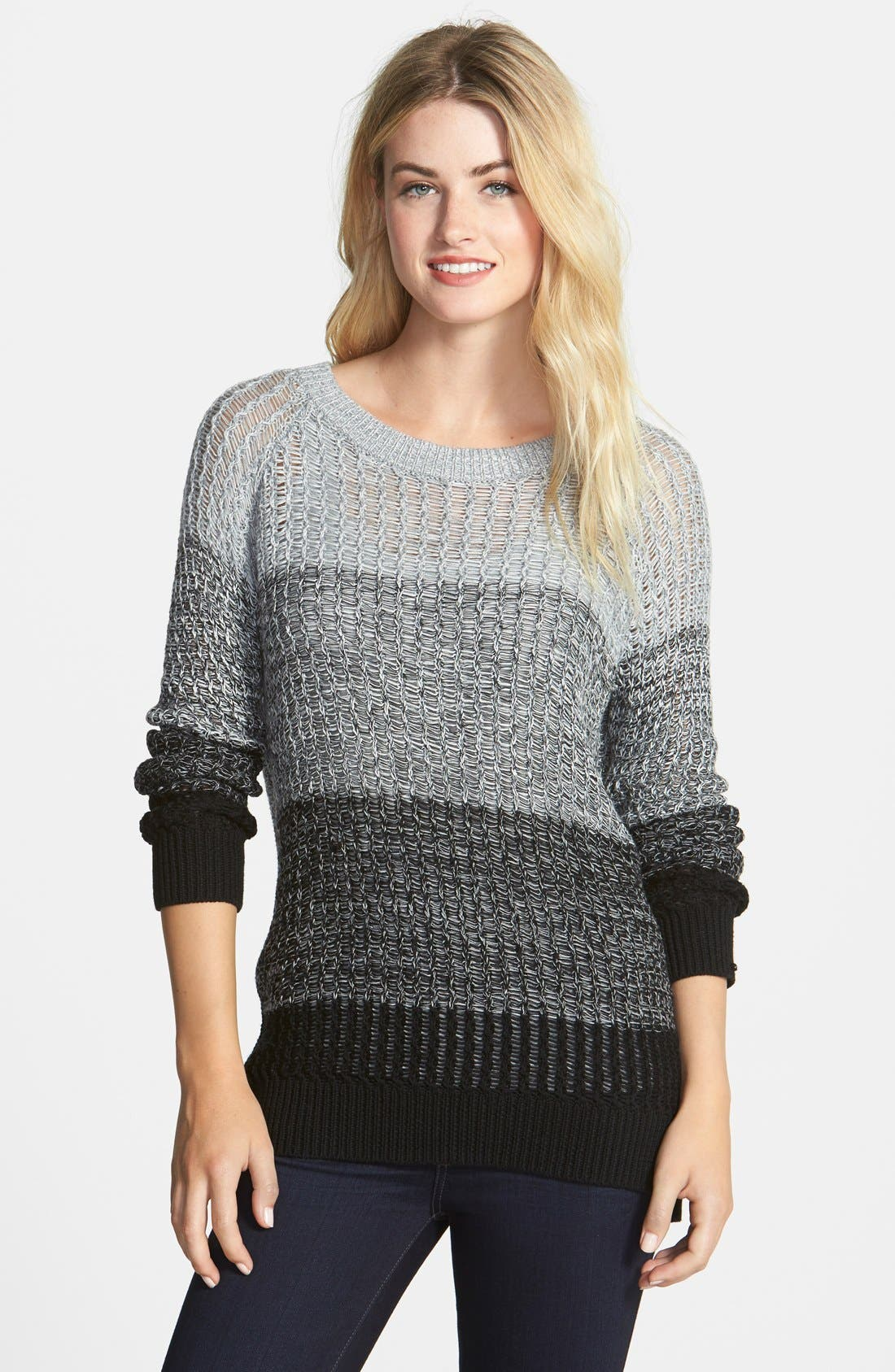 Alternate Image 1 Selected - Two by Vince Camuto Ombré Stripe Shaker Sweater