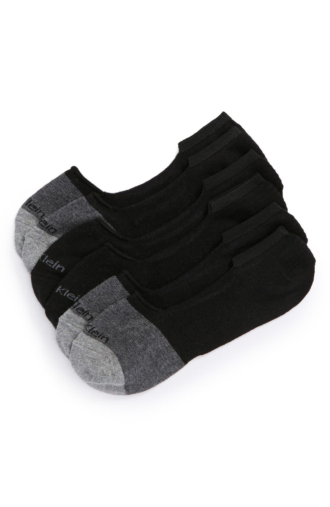 Alternate Image 1 Selected - Calvin Klein 3-Pack No-Show Socks