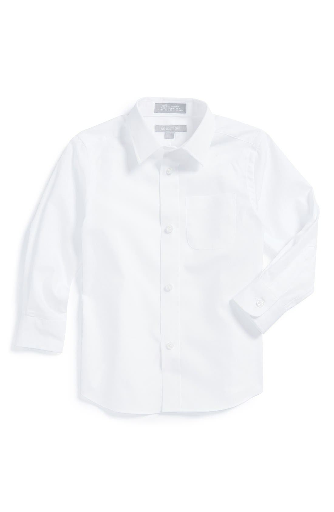 Nordstrom Cotton Poplin Dress Shirt (Toddler Boys)