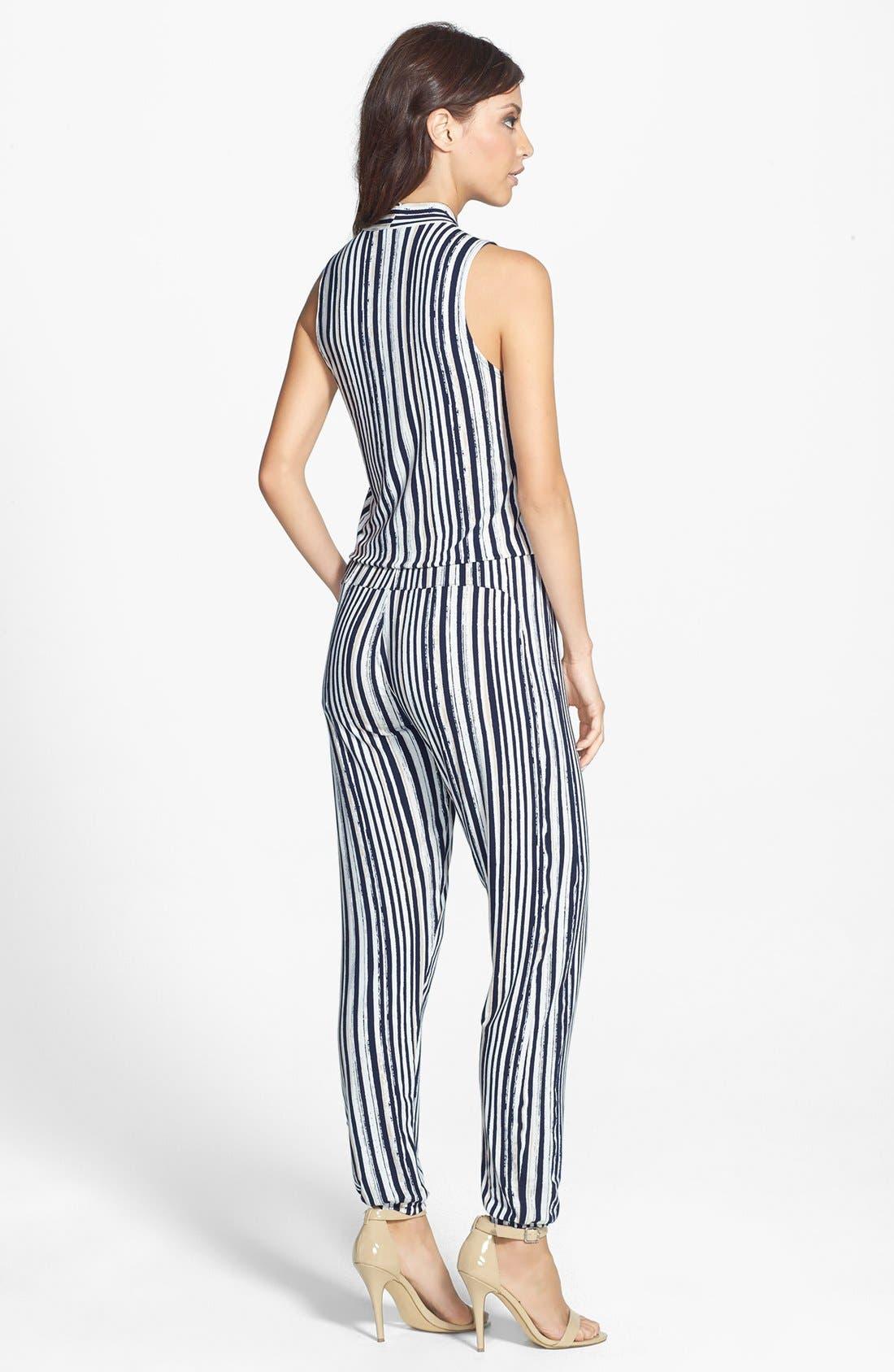 Alternate Image 2  - Tart 'Harli' Stripe Surplice Jumpsuit