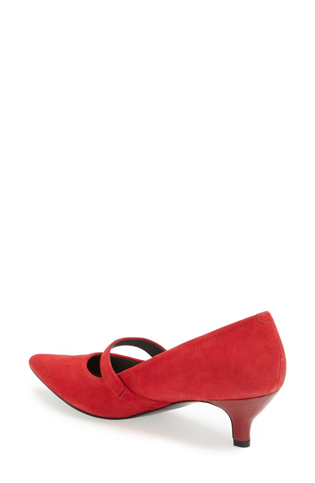 'Petra' Pump,                             Alternate thumbnail 2, color,                             Red Suede