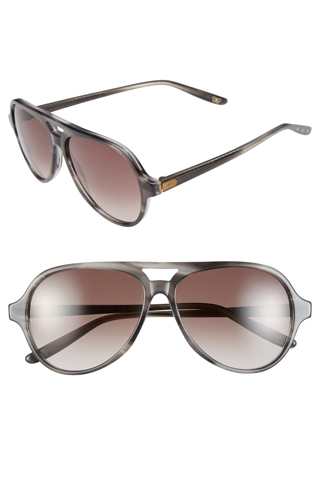 Alternate Image 1 Selected - Bottega Venata 57mm Aviator Sunglasses