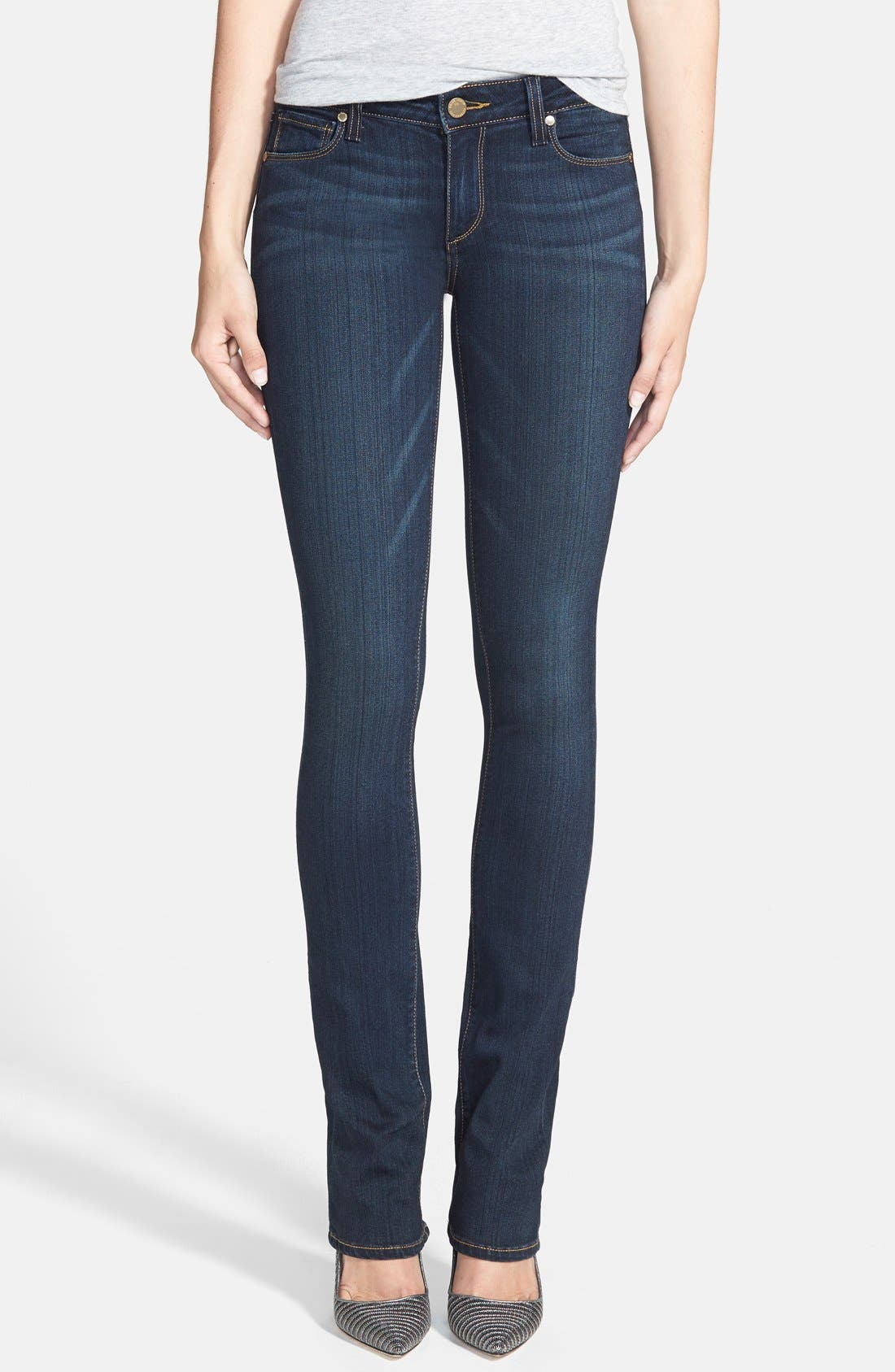 Main Image - PAIGE 'Transcend - Manhattan' Bootcut Jeans (Armstrong)