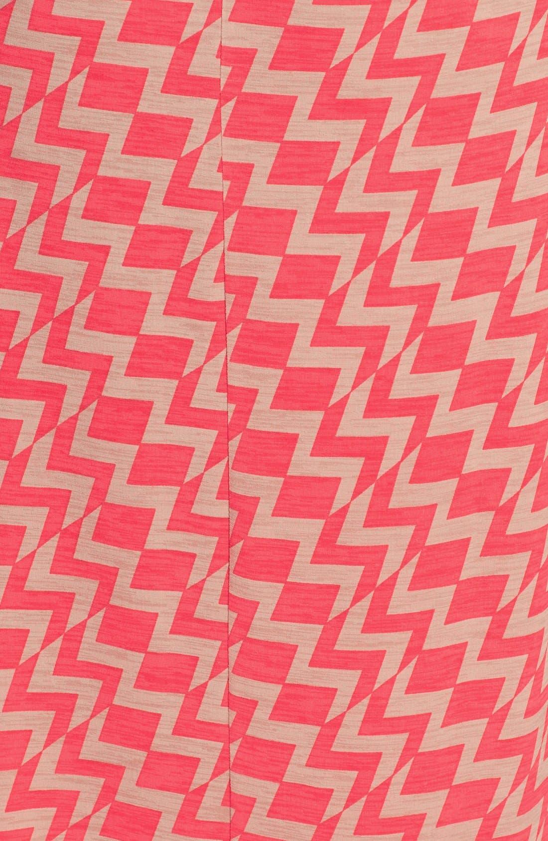 Alternate Image 3  - Trixxi Zigzag Print Strapless Maxi Dress (Juniors)