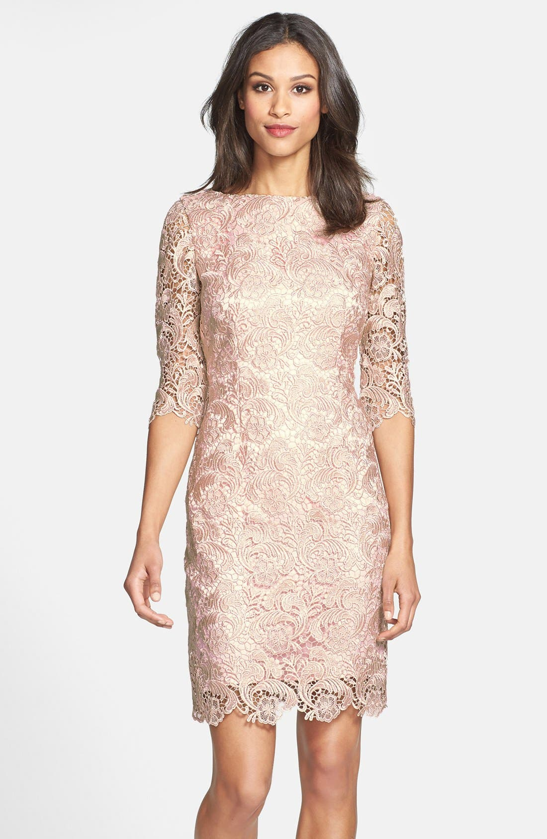 Alternate Image 1 Selected - Eliza J Lace Sheath Dress